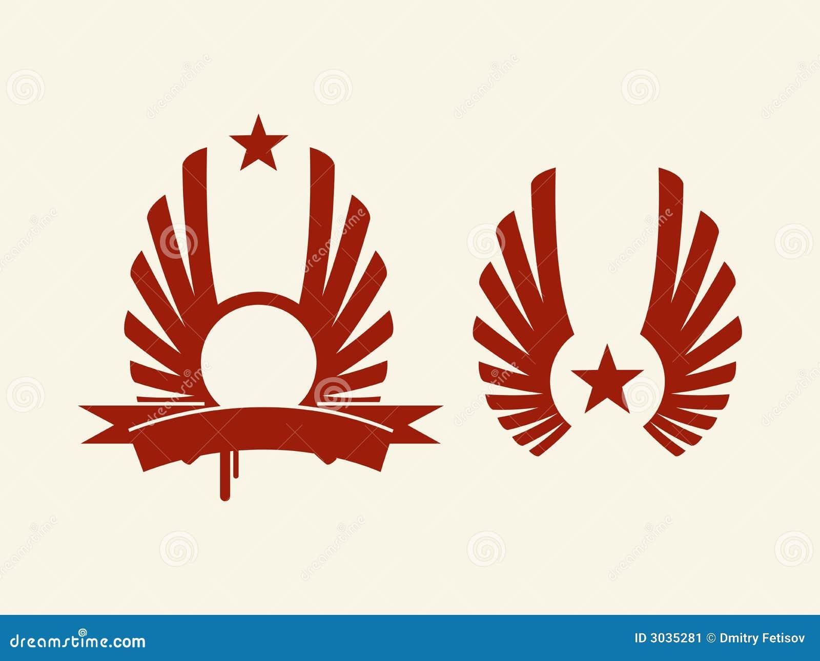 Heraldische rode stervector