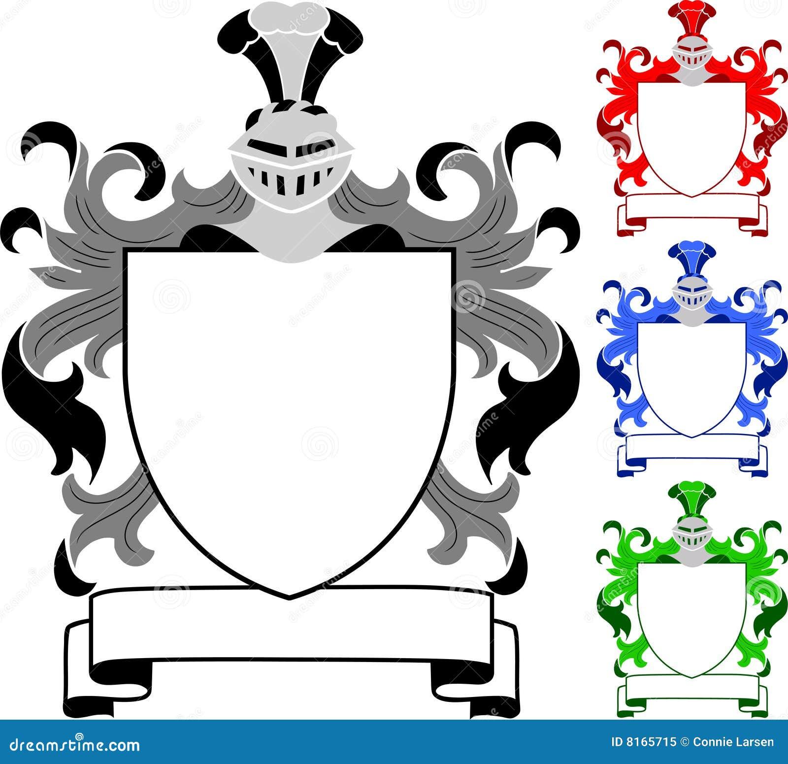 Vector Heraldische Elementsammlung Und Wappen Schablone Vektor ...