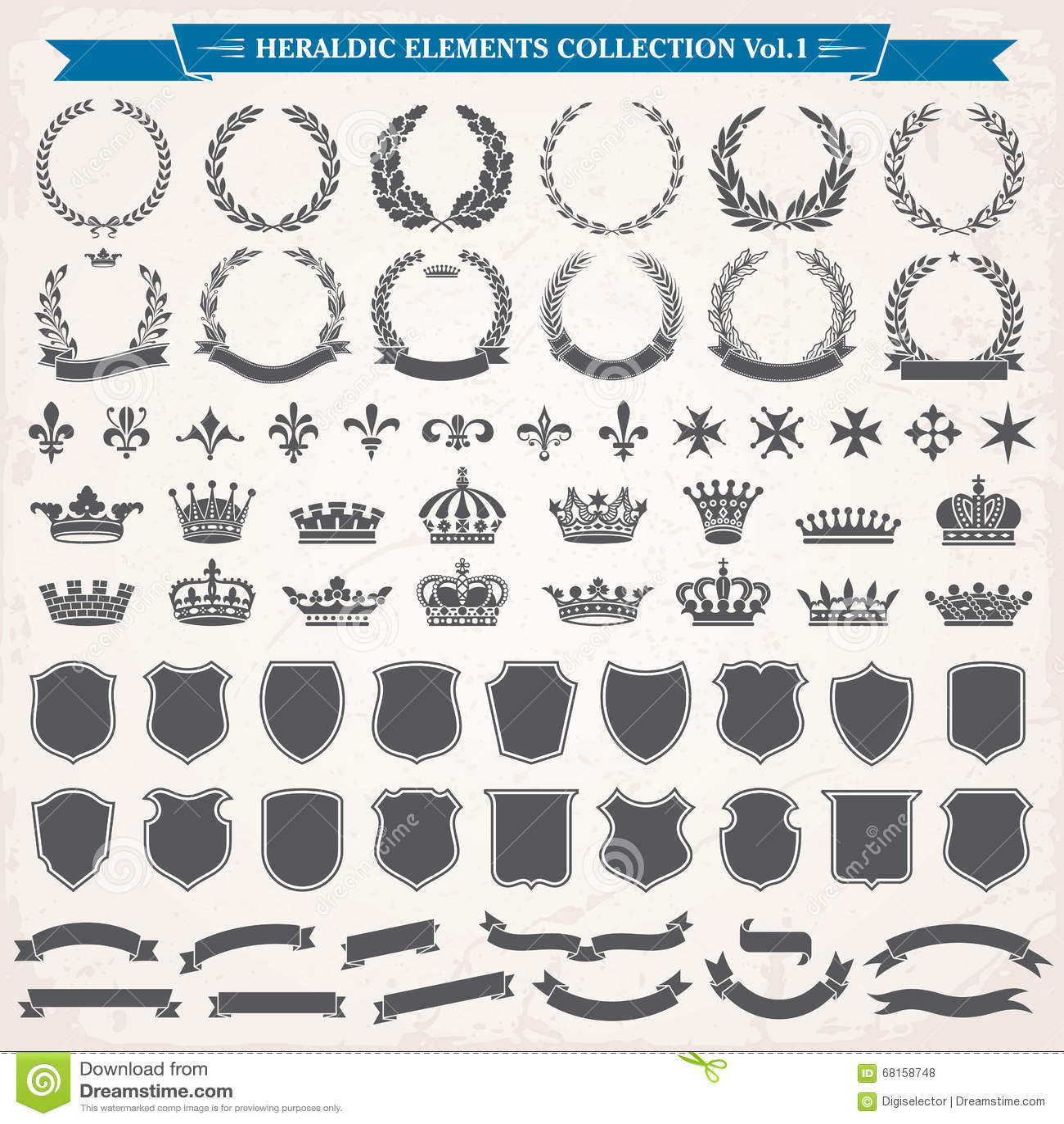 Heraldisches Elementset 1