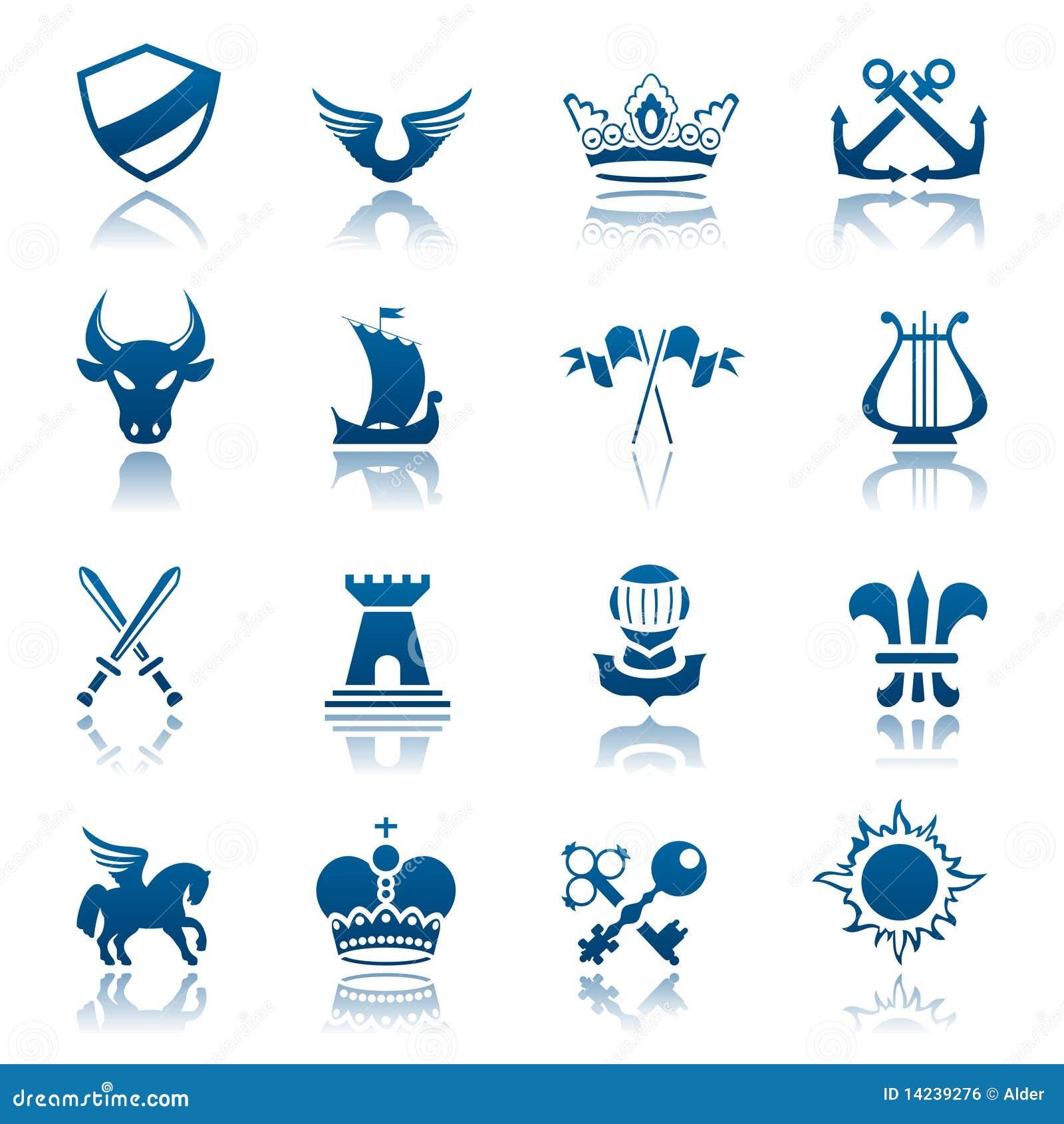 Heraldisches Ikonenset