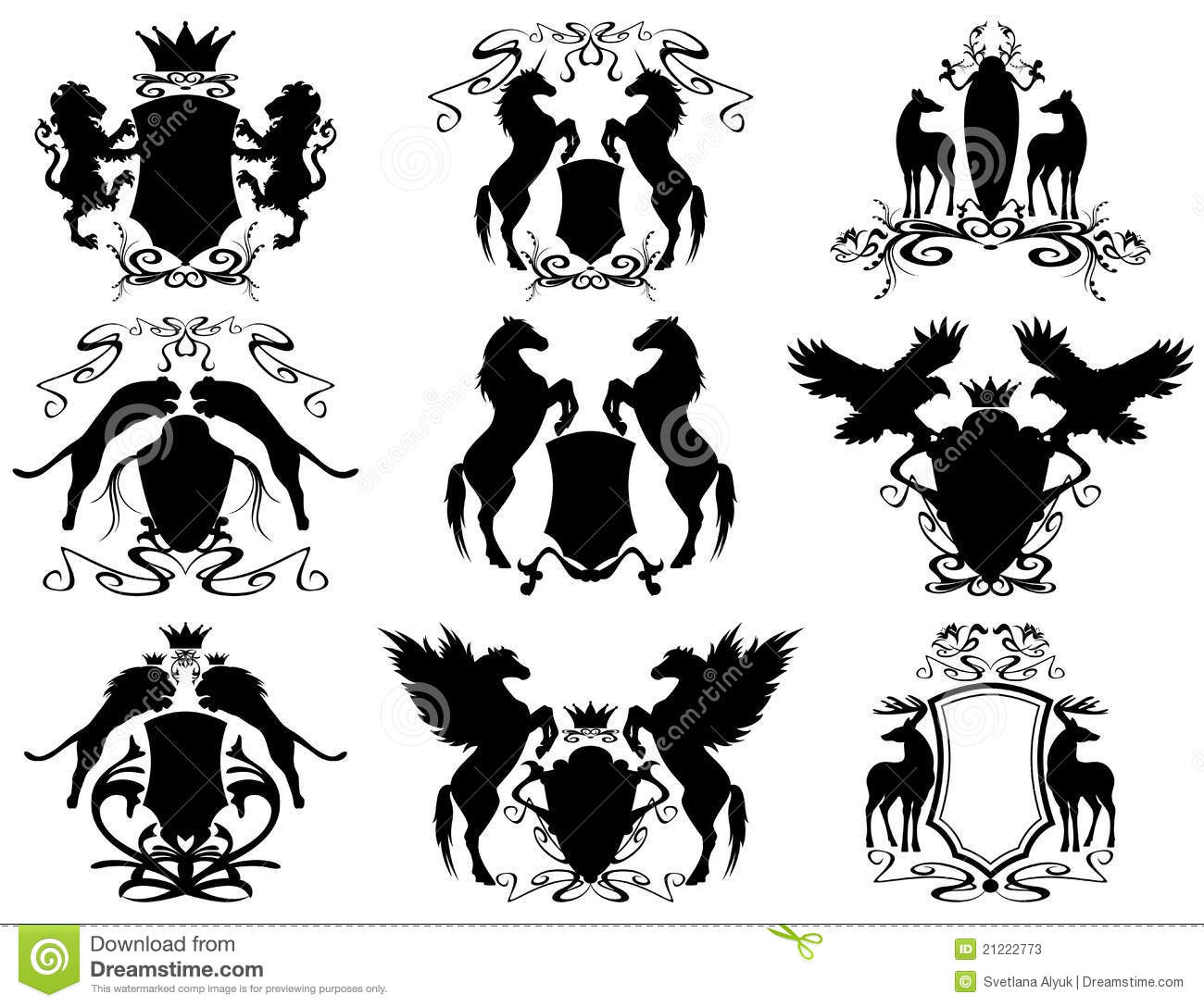 heraldry set vector stock photos   image 21222773