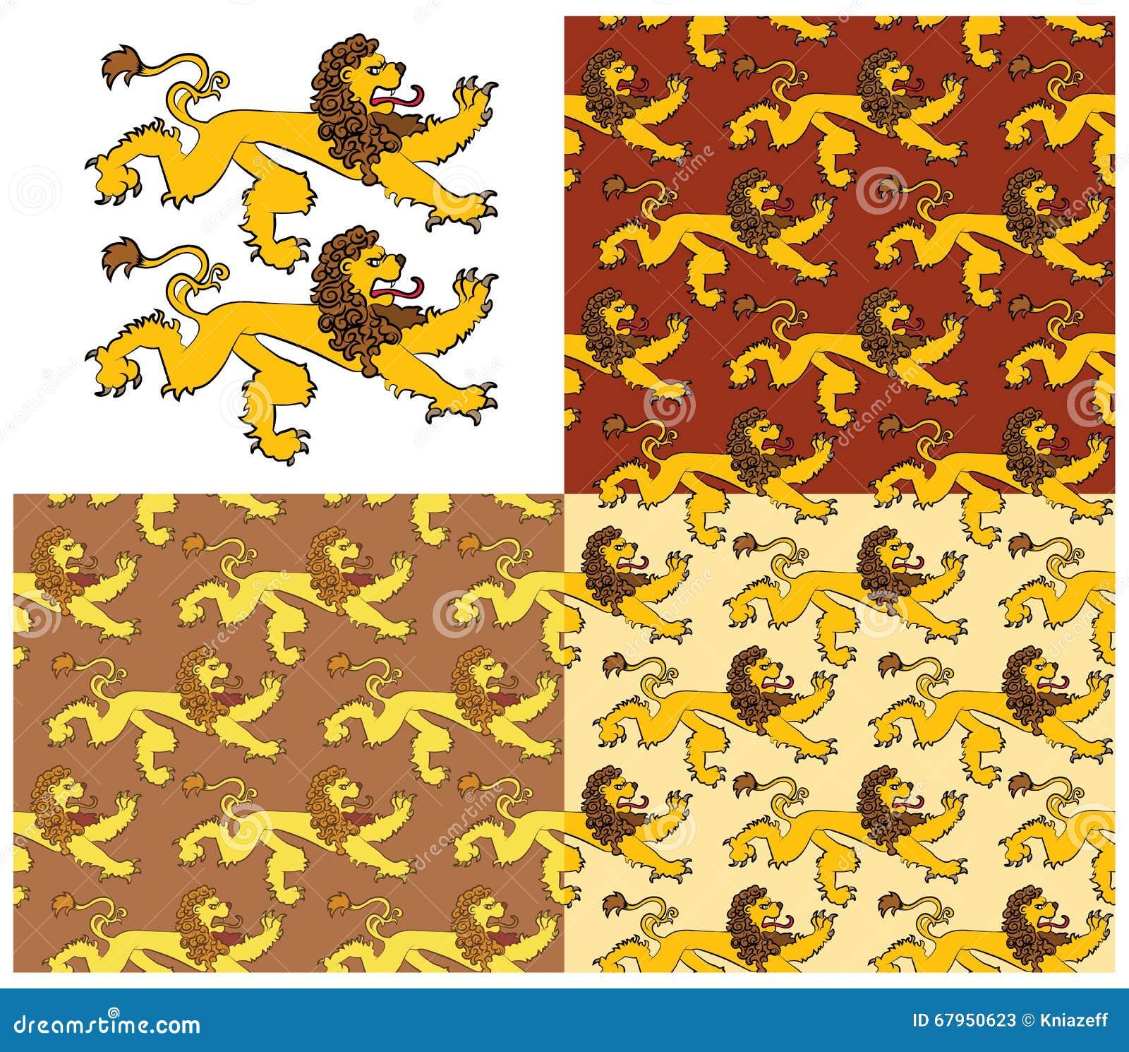 Heraldyczne postacie lew
