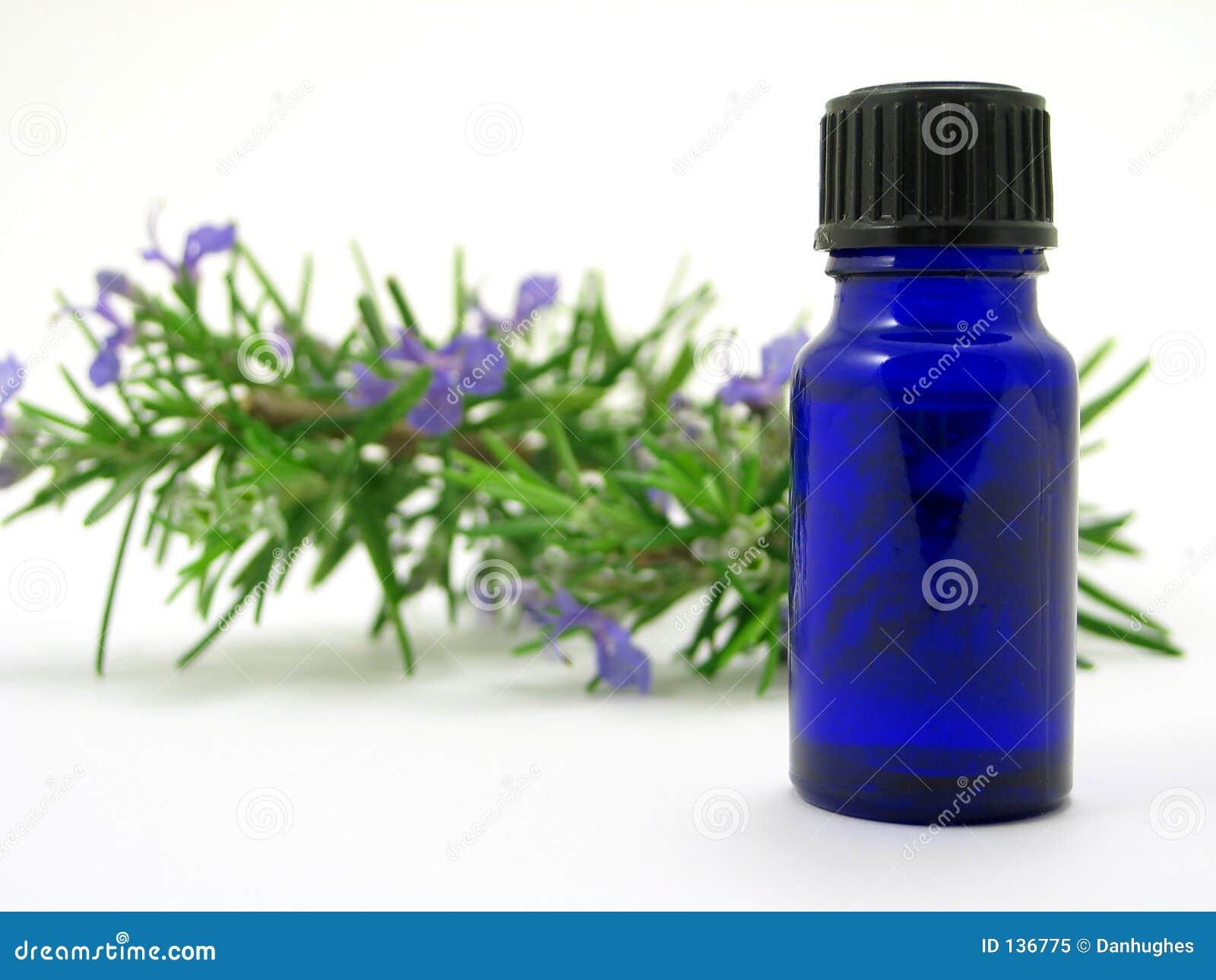 Herb butelki oleju rosemary