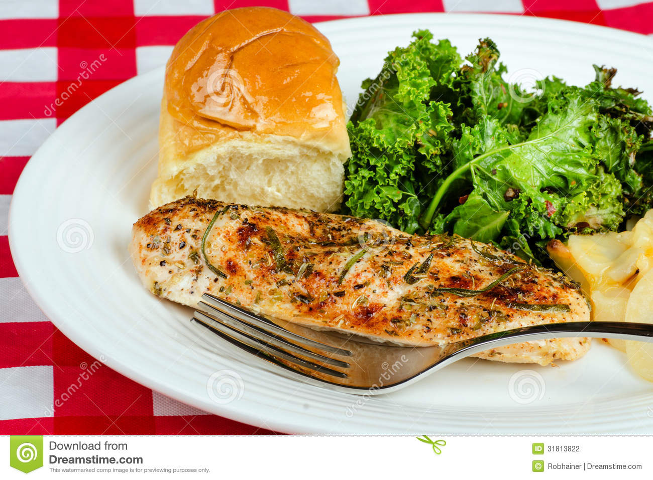 Herb-crusted Baked Chicken Breast Stock Photography ...