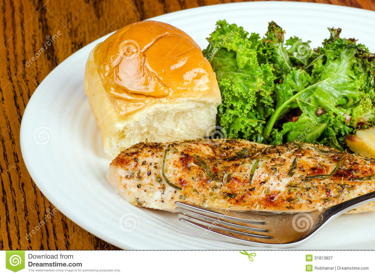 Herb-crusted Baked Chicken Breast Royalty Free Stock ...