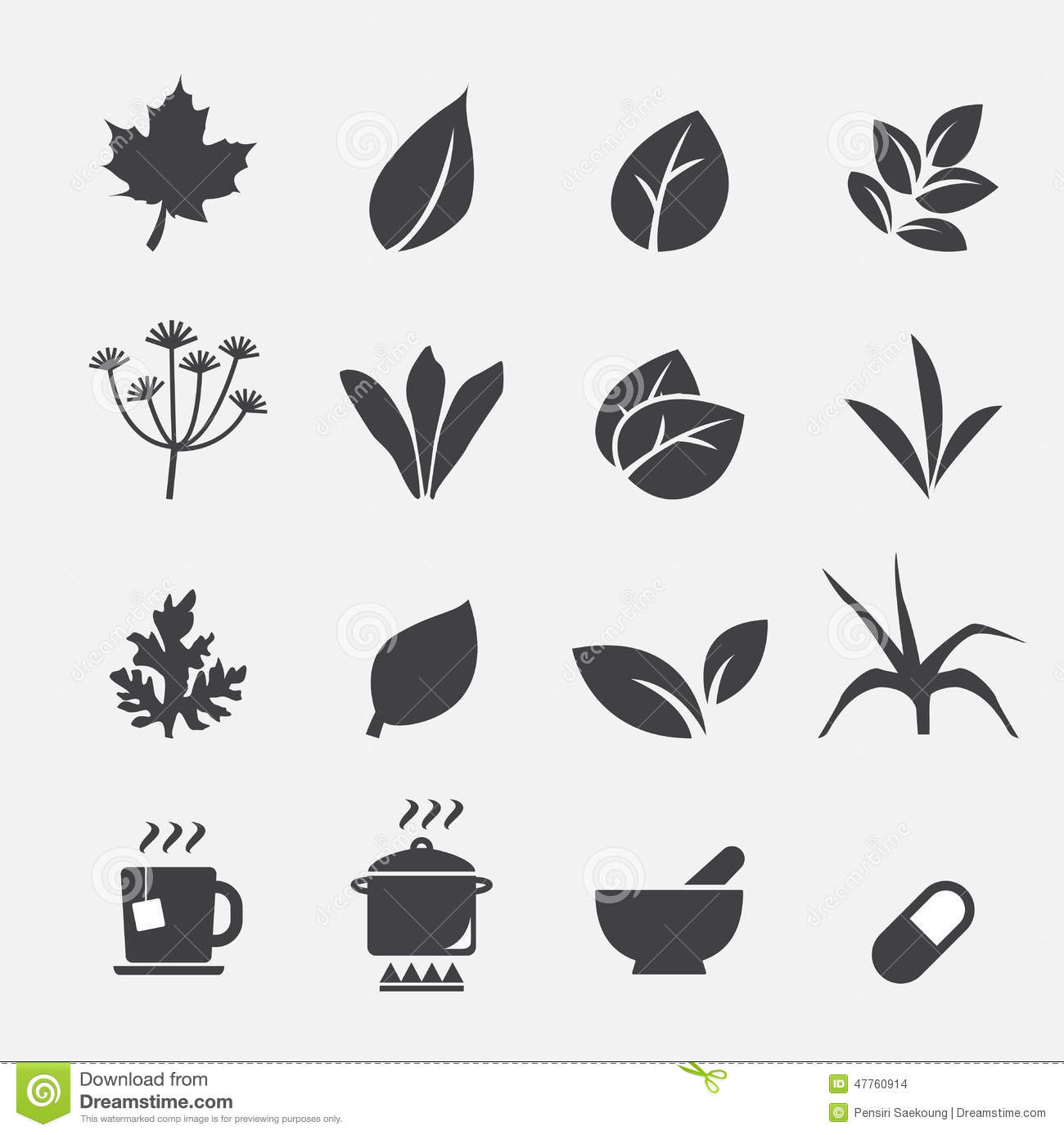 Herb Icon Stock Vector Image 47760914