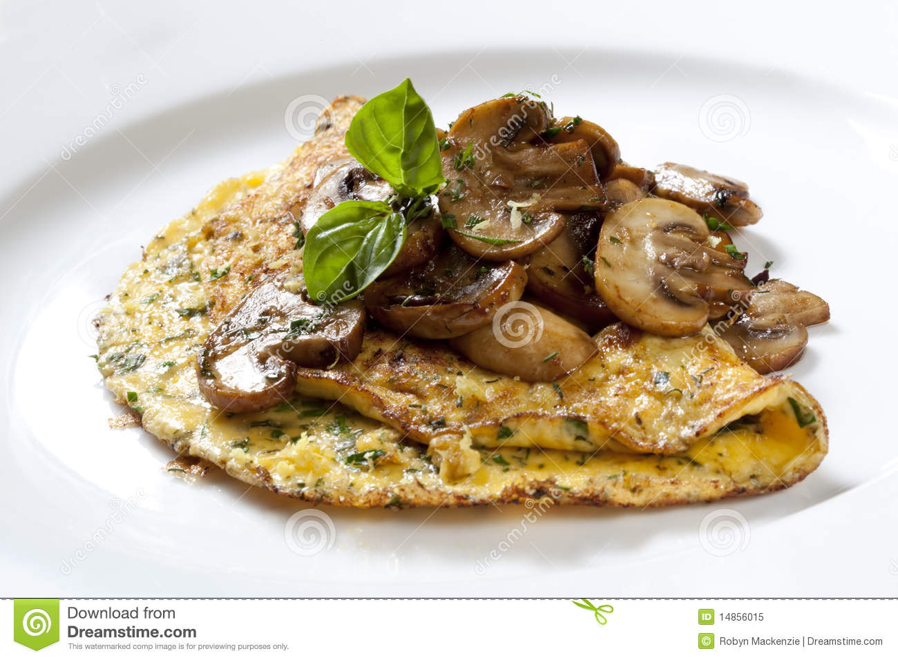 Herb And Mushroom Omelette Royalty Free Stock Photo - Image: 14856015
