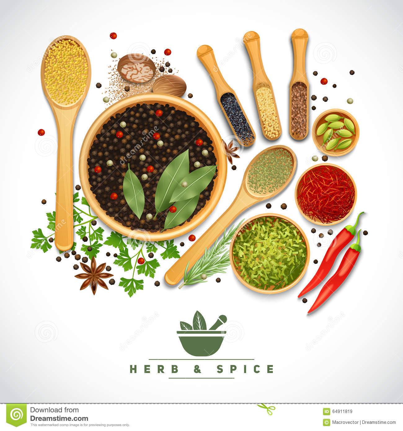 spices in wooden d...