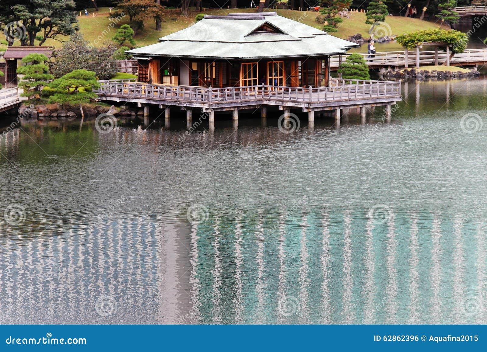 Herbaciany dom na wodzie