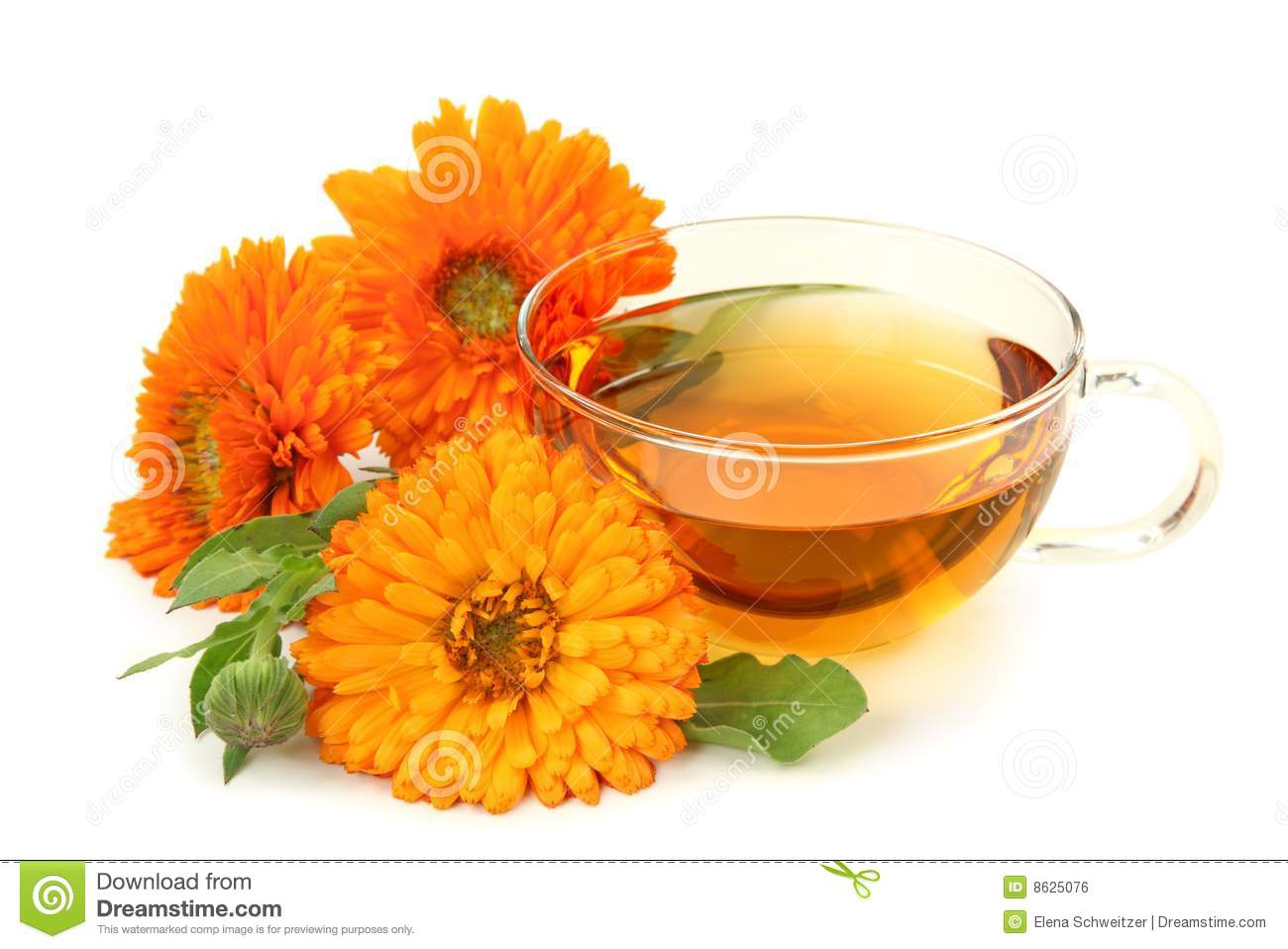 Herbal calendula tea