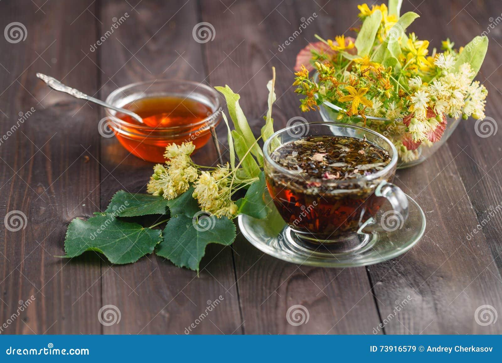 Herbal linden tea