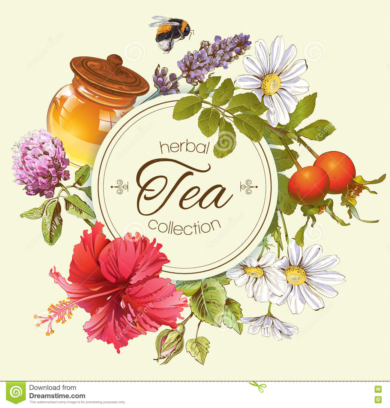 Herbal Tea Banner Stock Vector Illustration Of Hibiscus 72750739