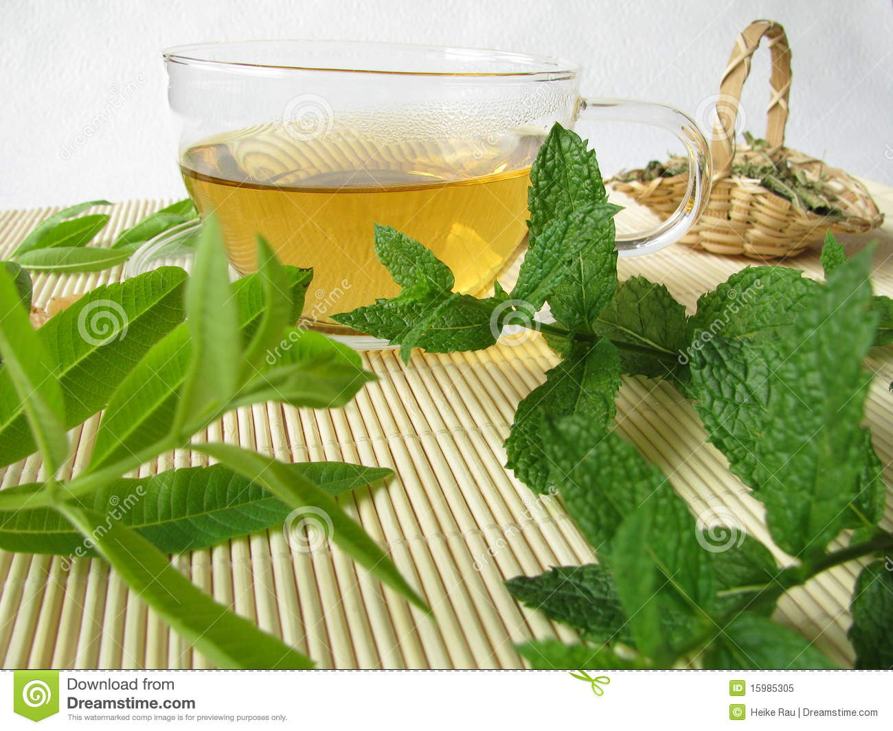 Herbal Tea With Lemon Verbena And Moroccan Mint Royalty Free Stock ...