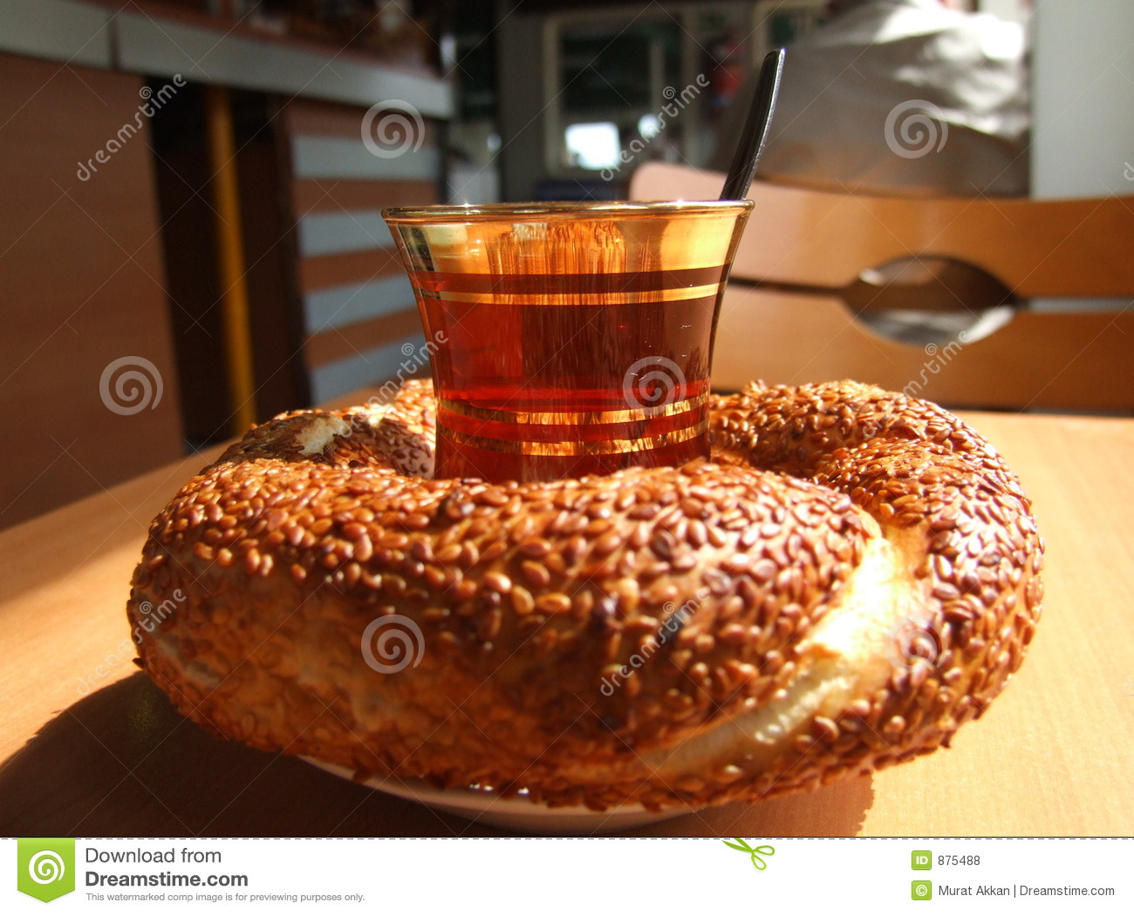 Herbata simit tureckiego pary