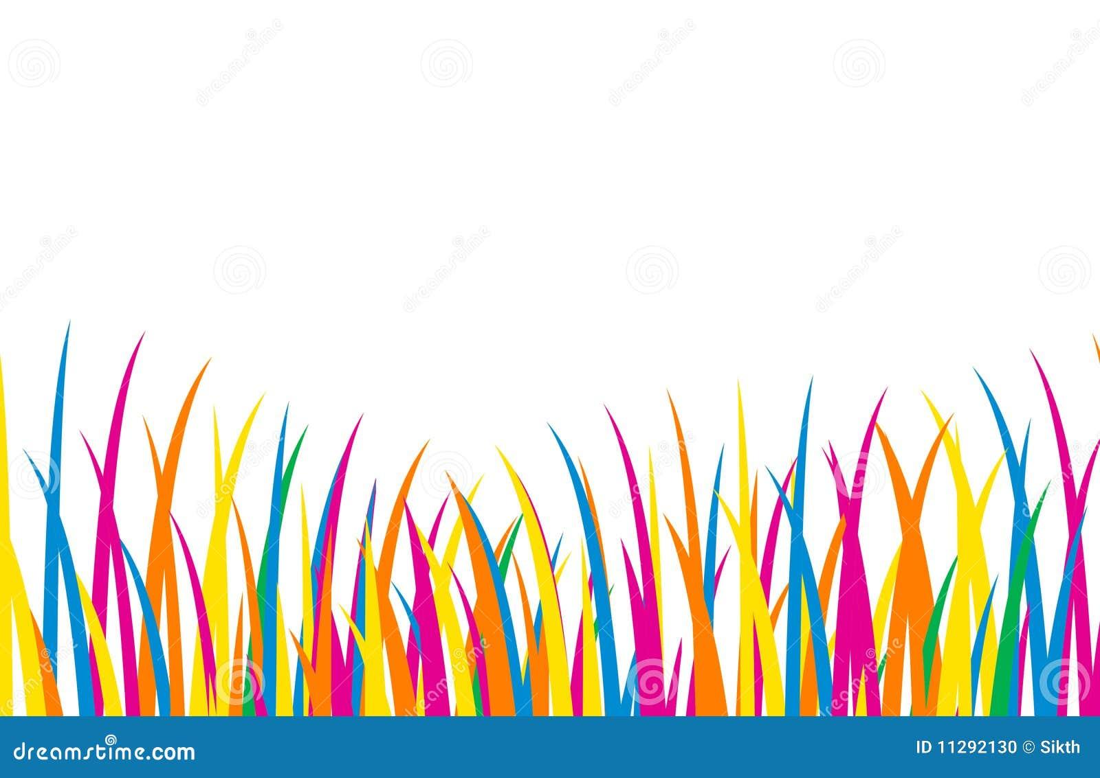 Herbe color e de dessin anim photo stock image 11292130 - Dessin colore ...