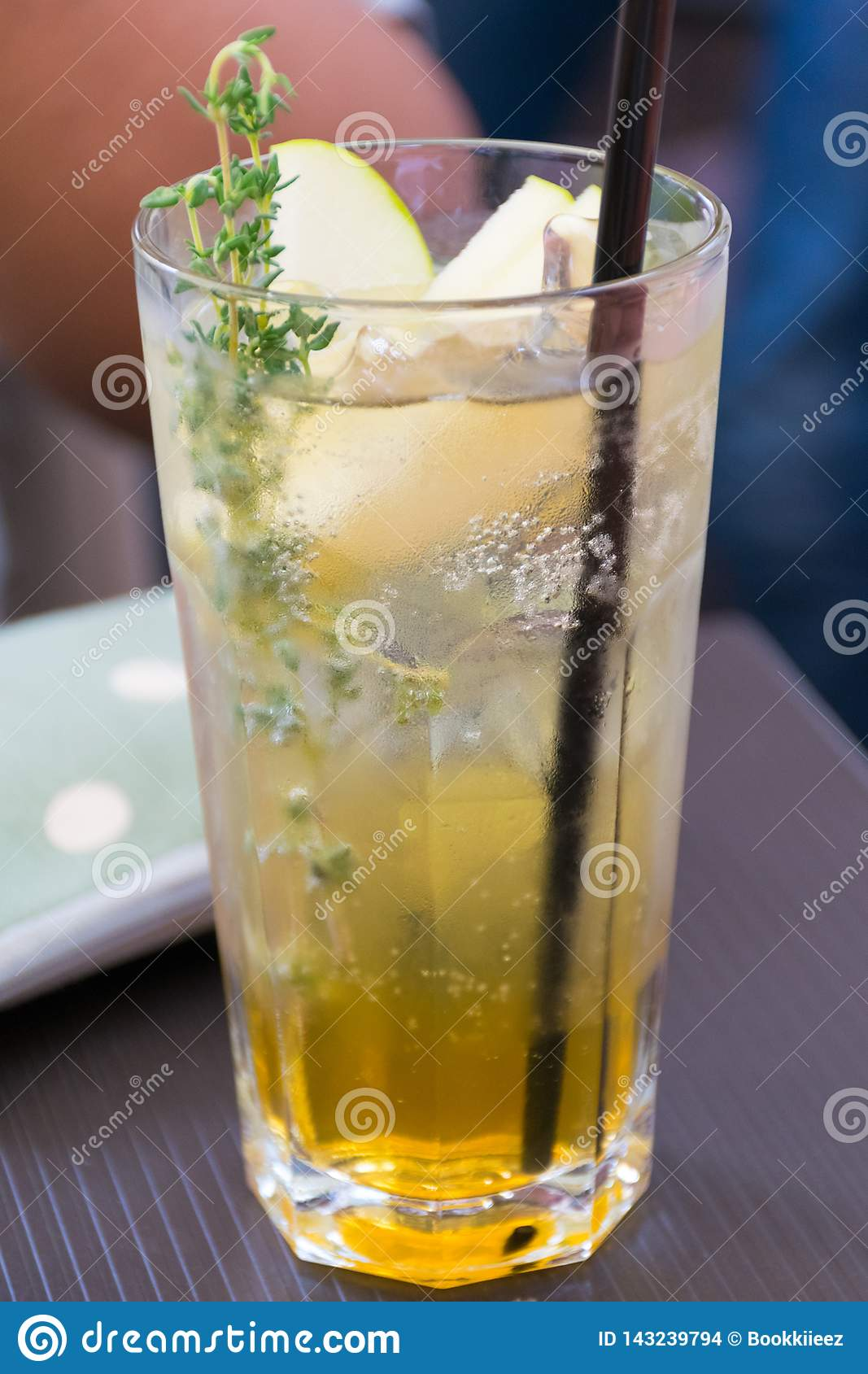 Herbs drink in a grass.