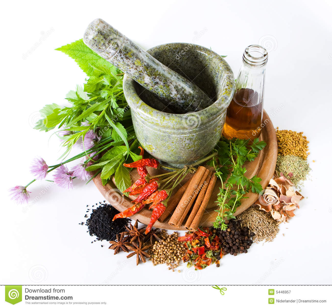 Herbs And Spices Royalty Free Stock Photography Image