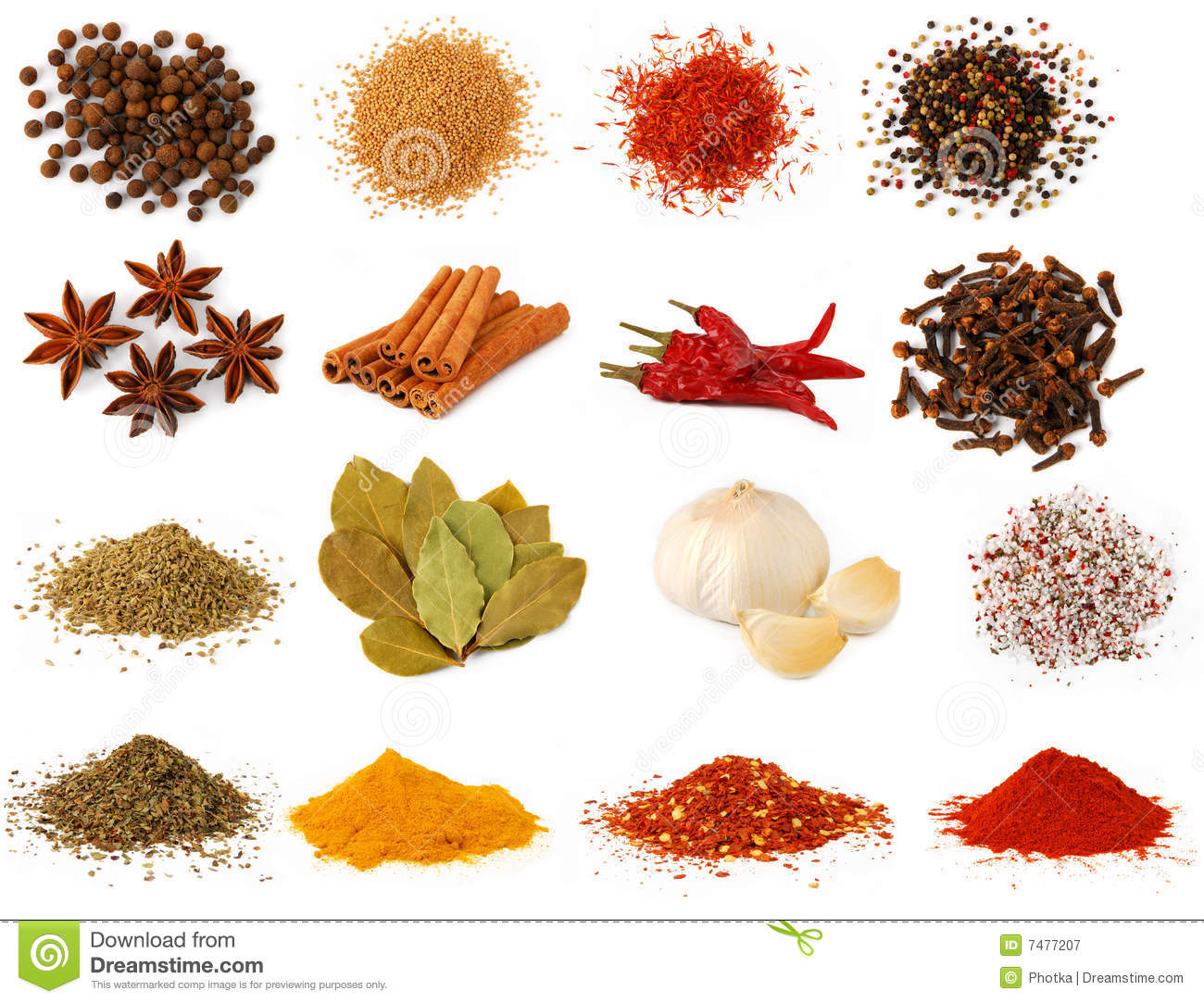 Herbs And Spices Stock Image Image Of Organic Ingredients 7477207