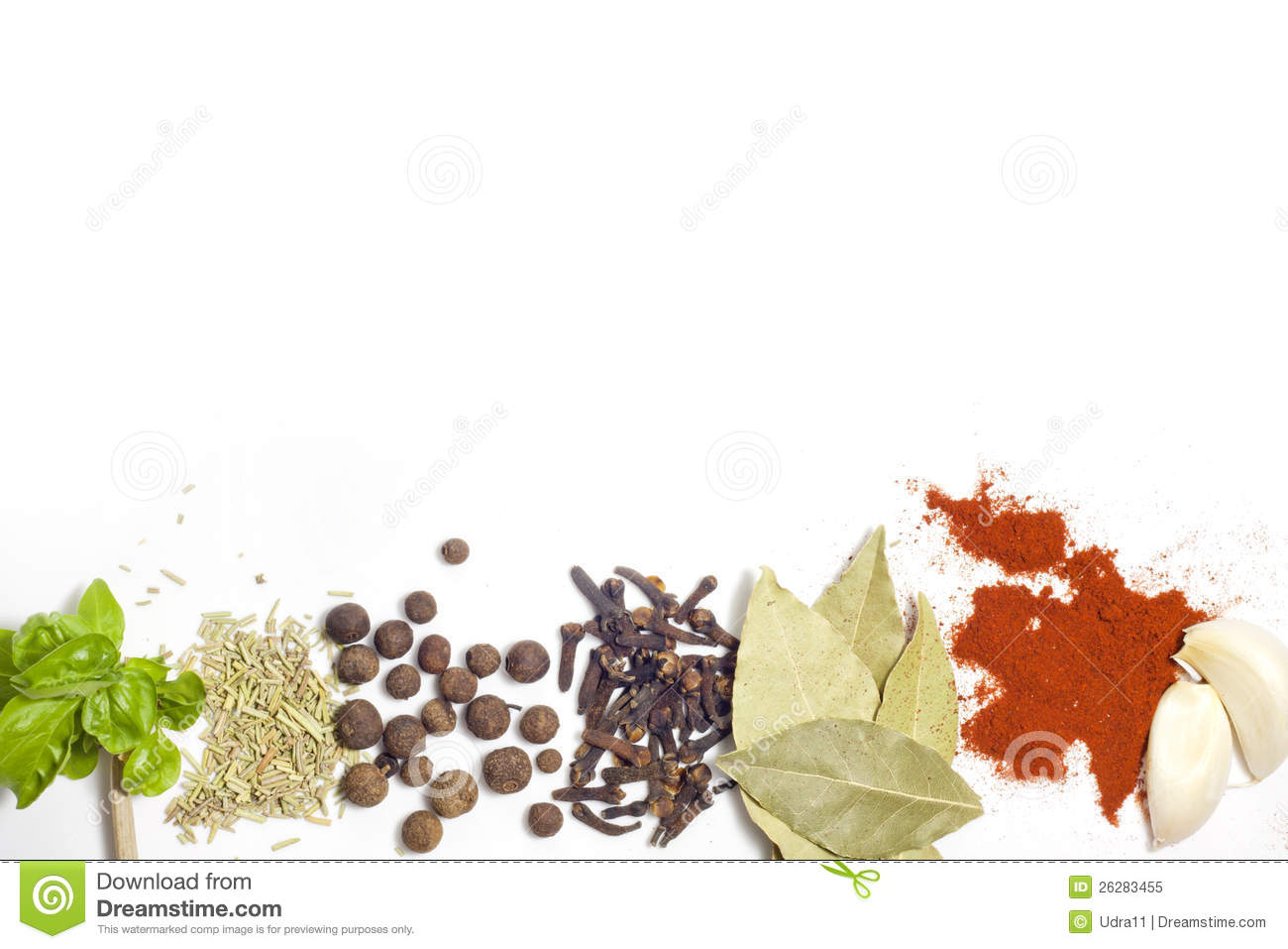 Herbs And Spices Border Stock Image Image Of Condiments 26283455