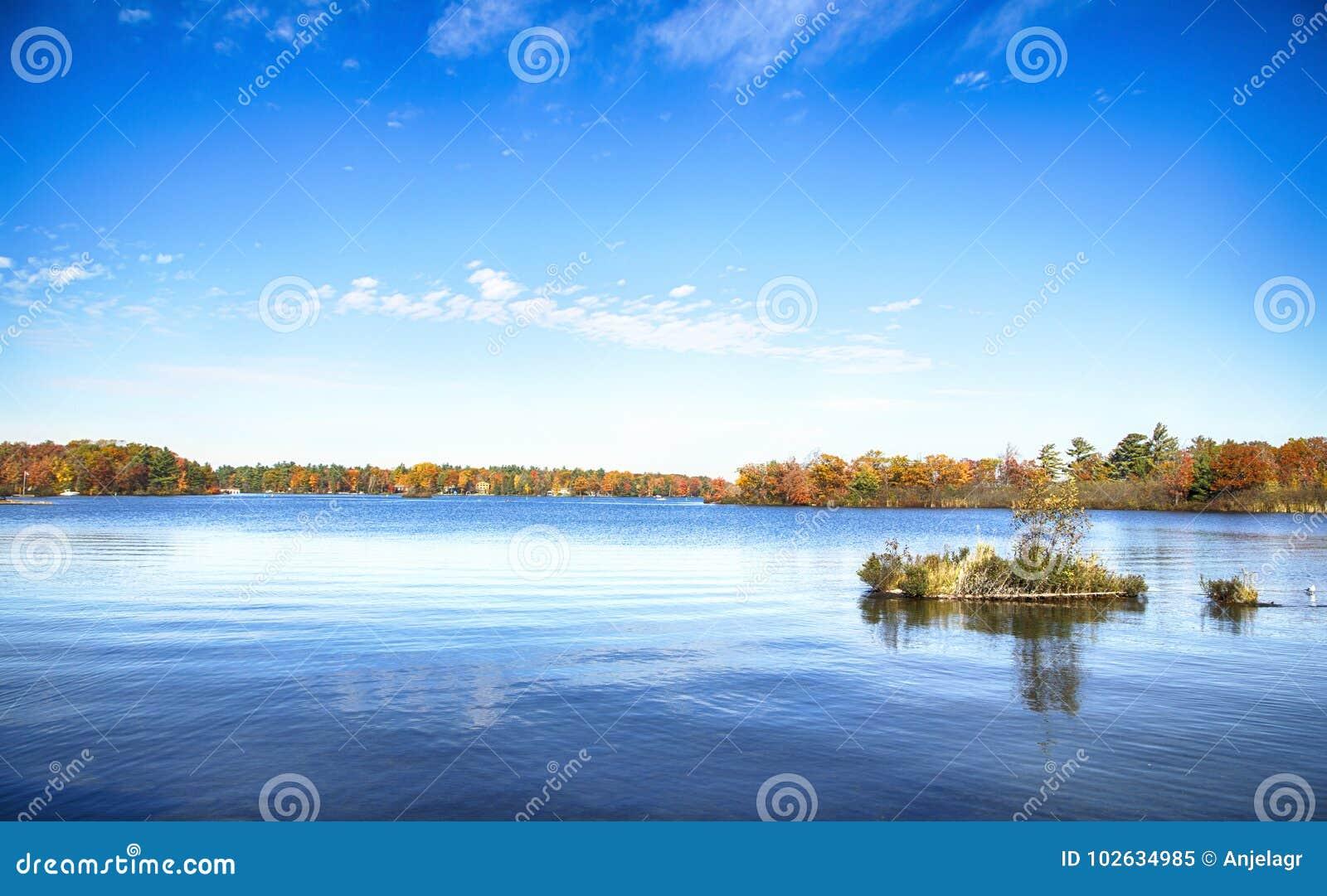 Herbst auf Muskoka Seen, Ontario, Kanada