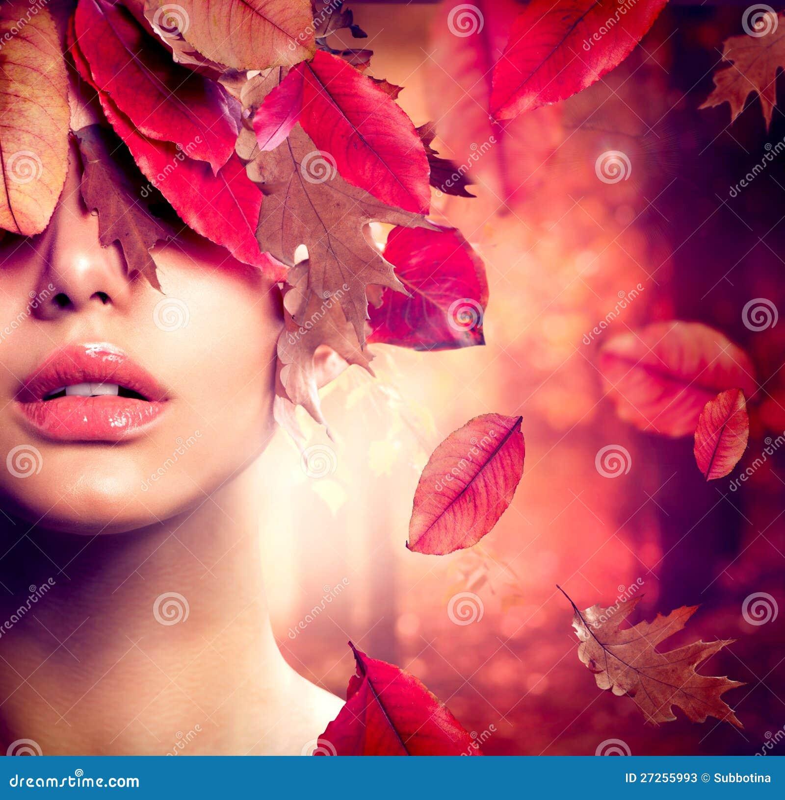 Herbst-Frauen-Portrait