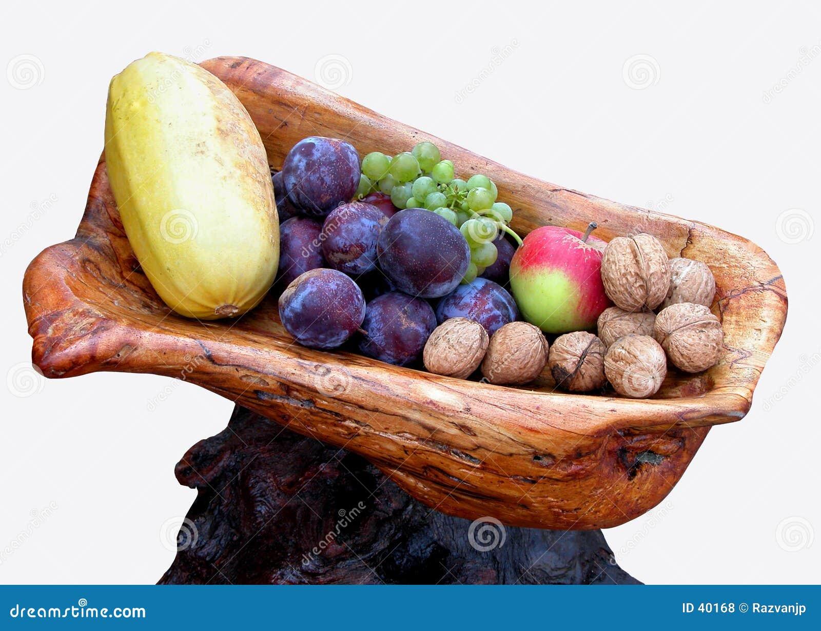 Download Herbst Trägt Anordnung Früchte Stockfoto - Bild von herbst, foto: 40168