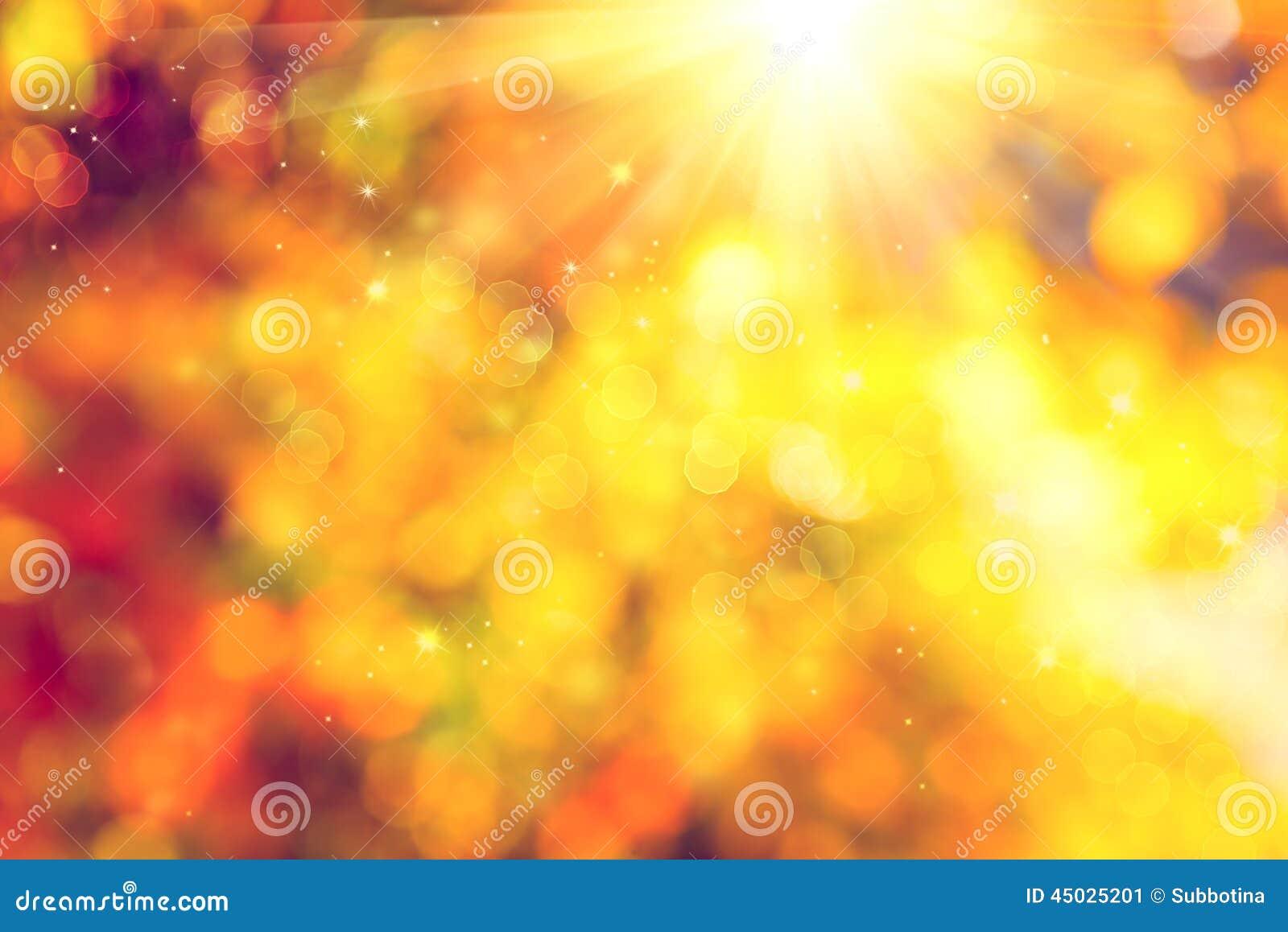 Herbst Unscharfer abstrakter Hintergrund