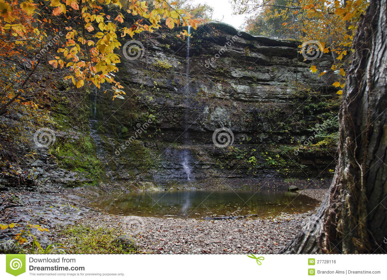 Herbst-Wasserfall