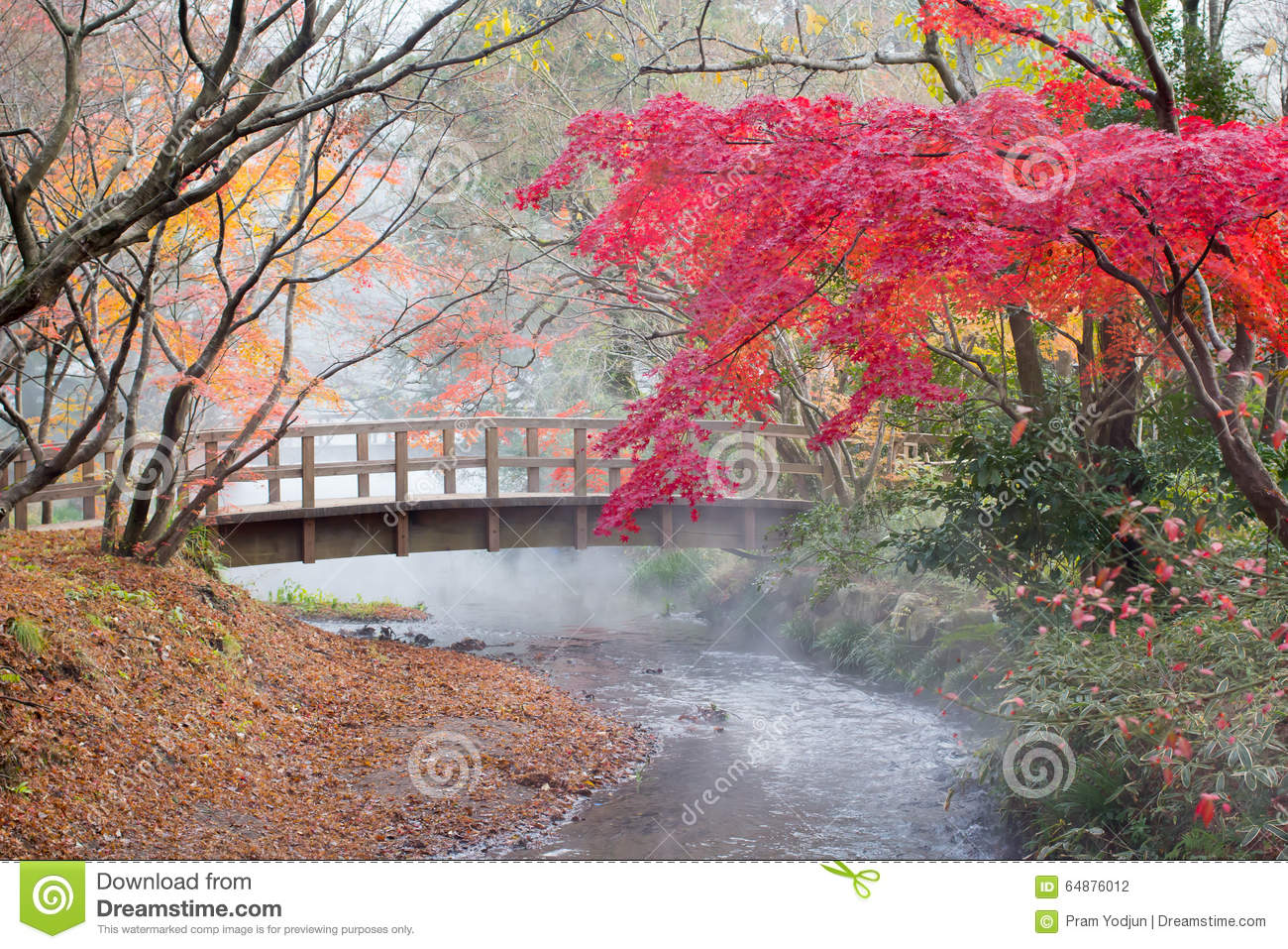 Herbst in Yufuin, Japan