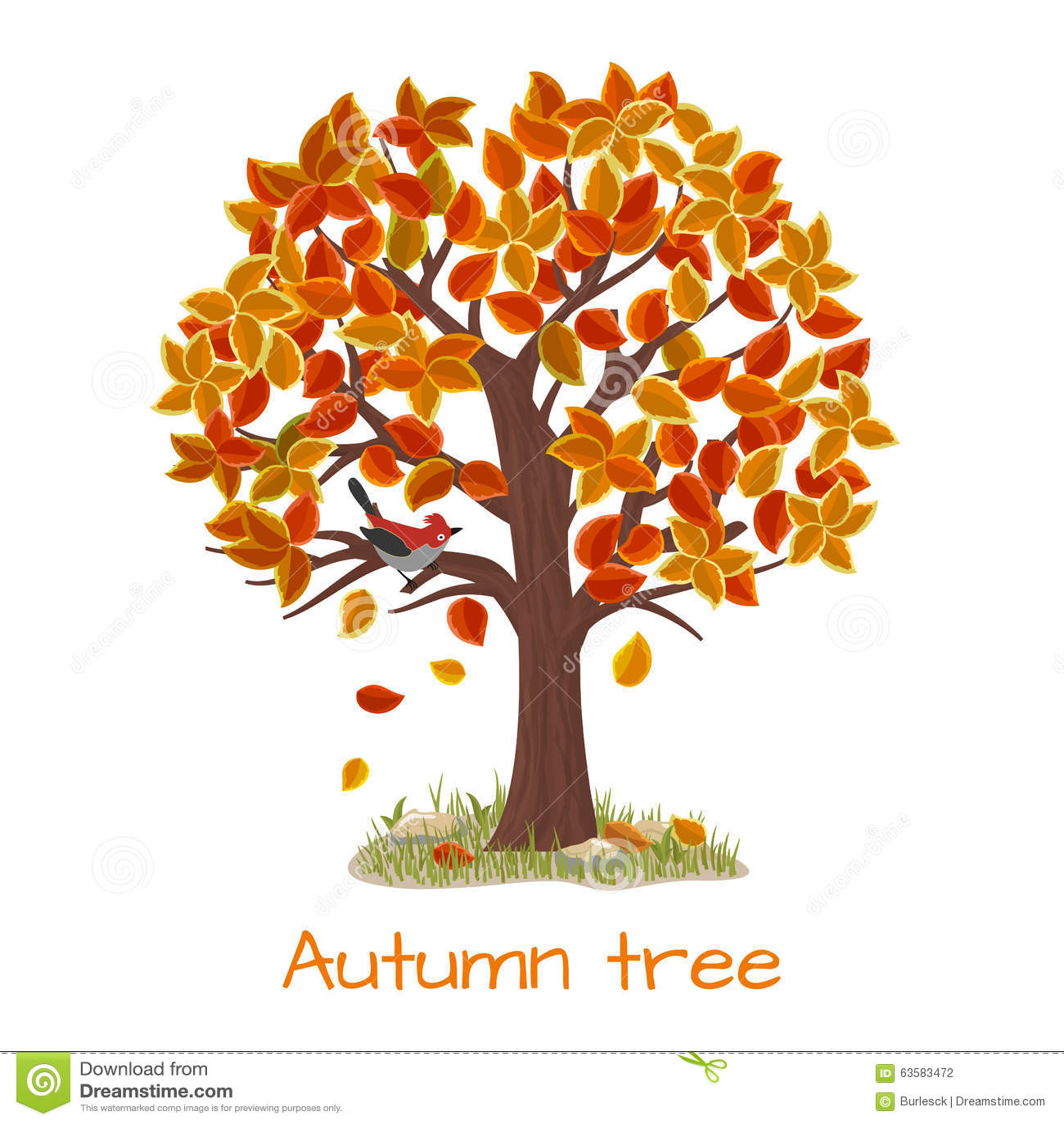 Herbstbaumvektor
