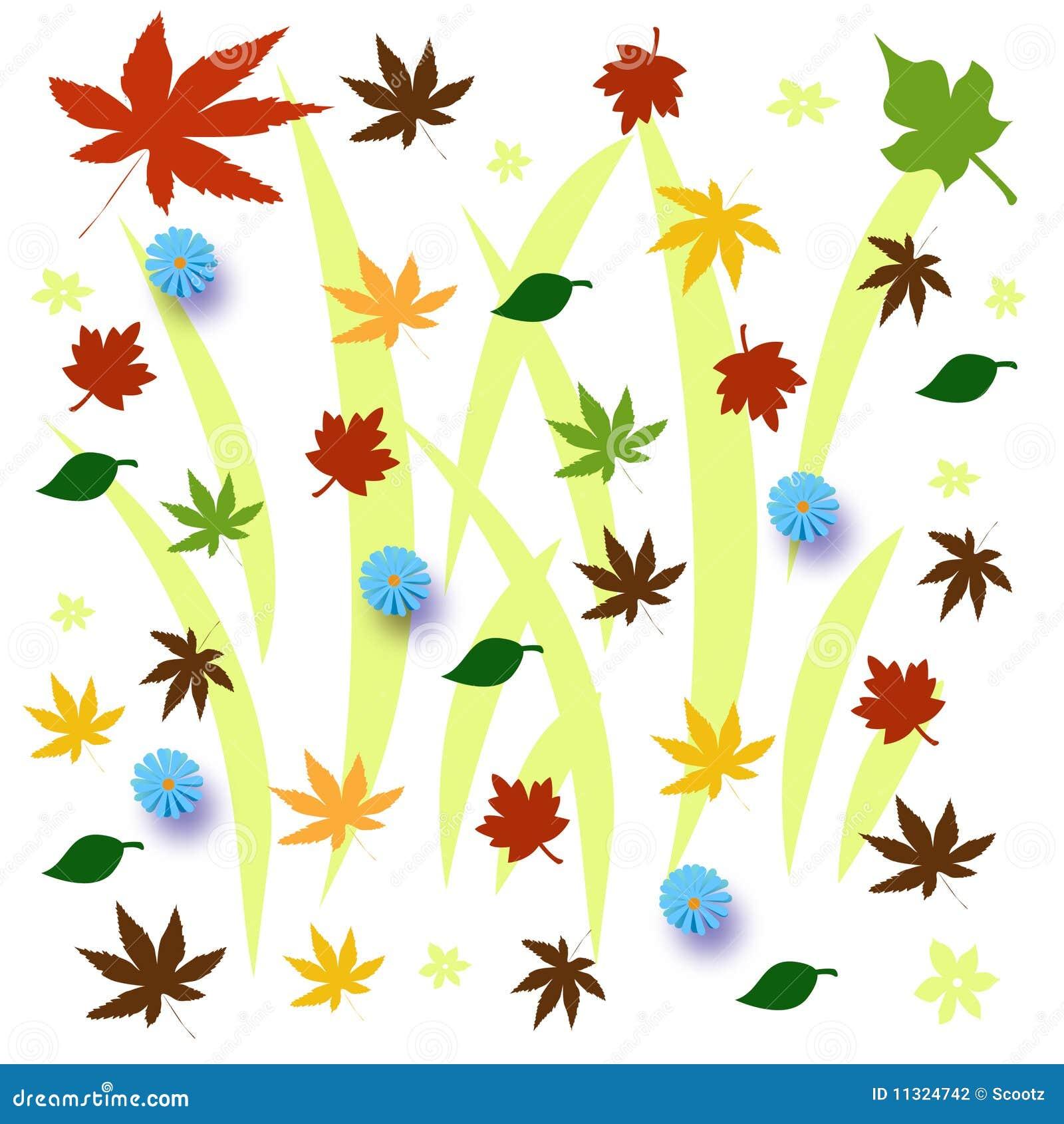 Herbstblätter dargestellt