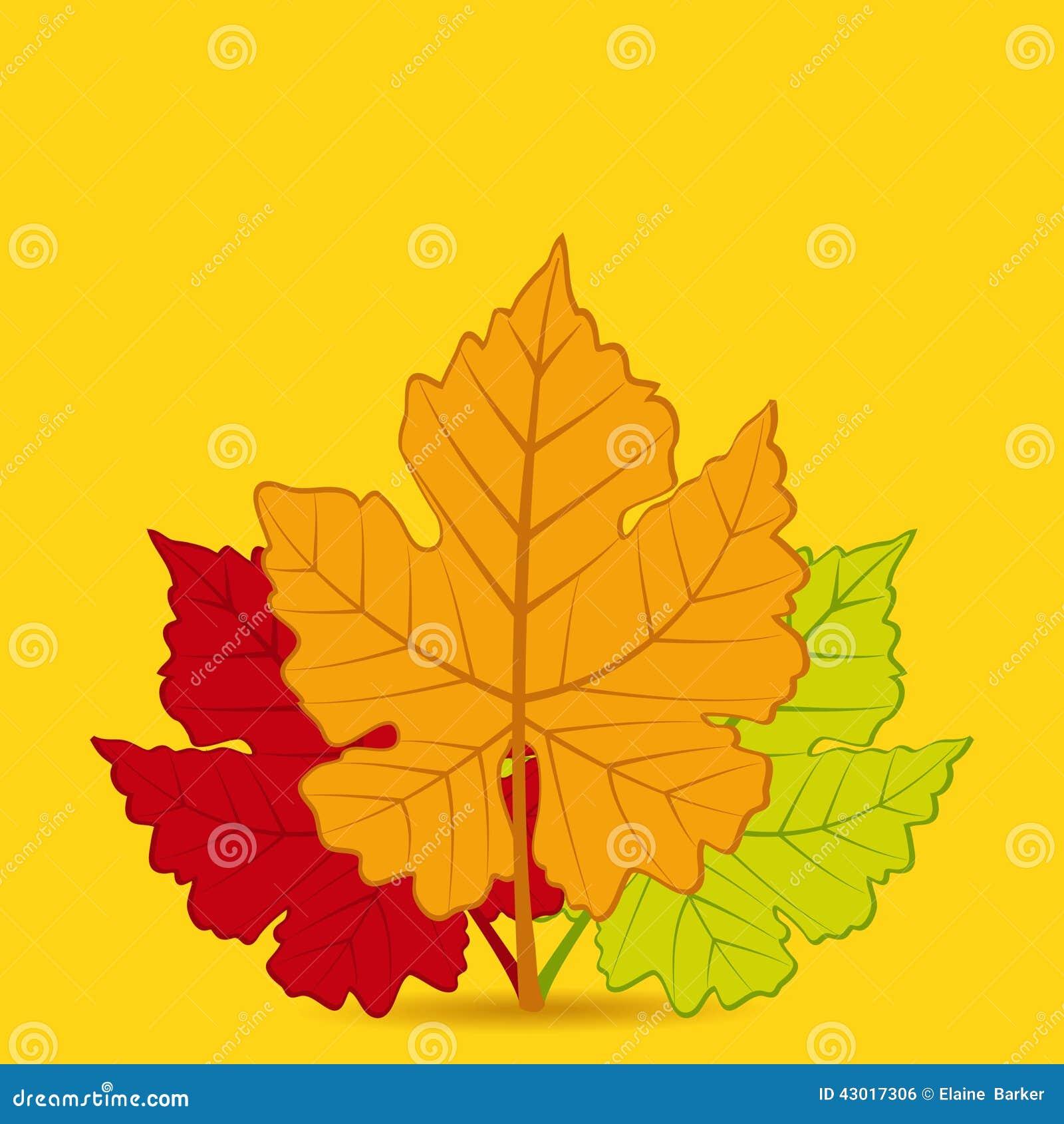 Herbstblatt-Hintergrundquadrat