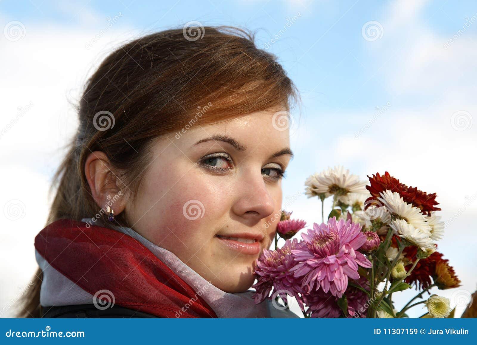 Herbstblumenstrauß