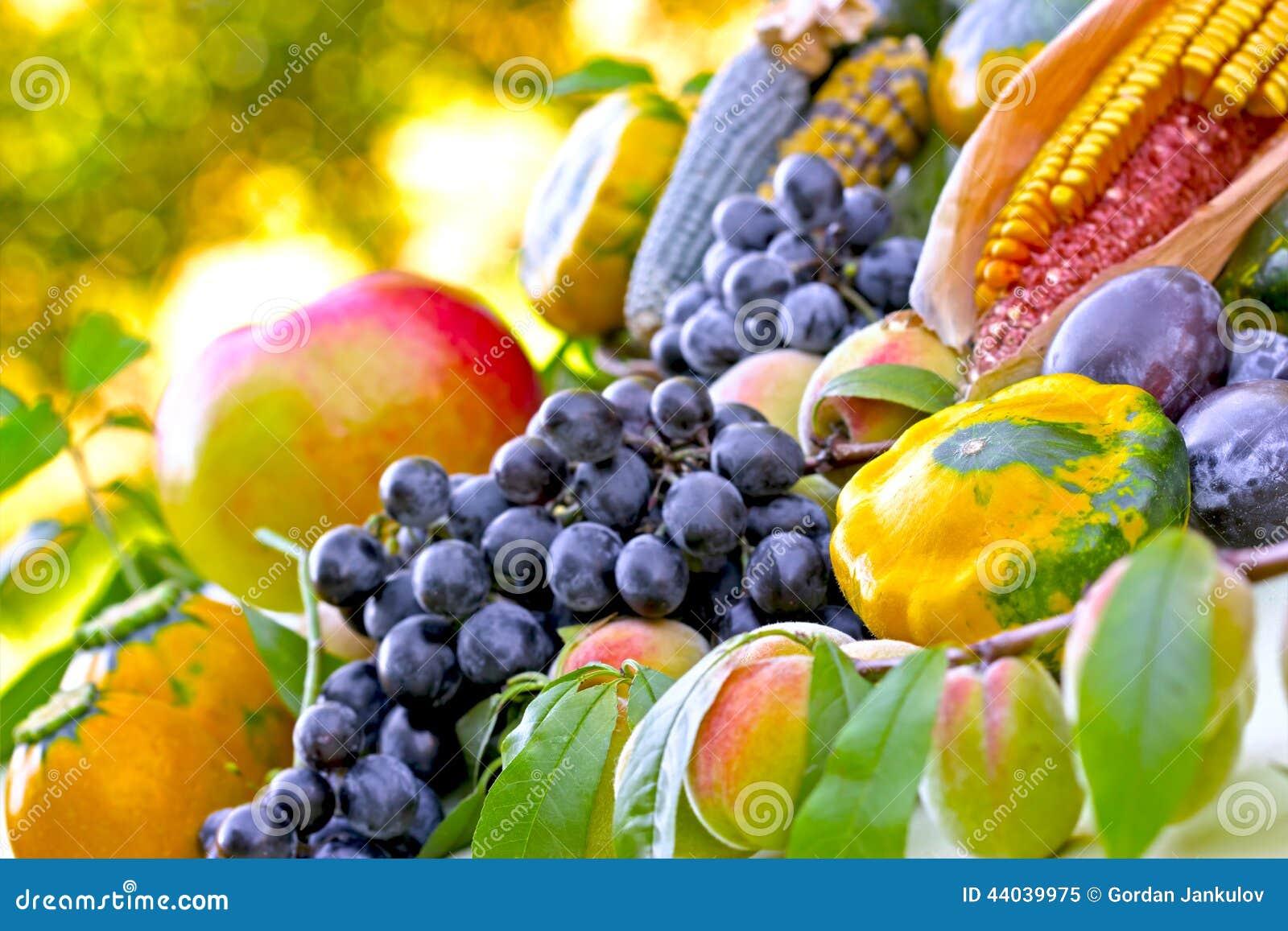 Herbsternte Obst Und Gemuse Stockbild Bild Von Essen Familie