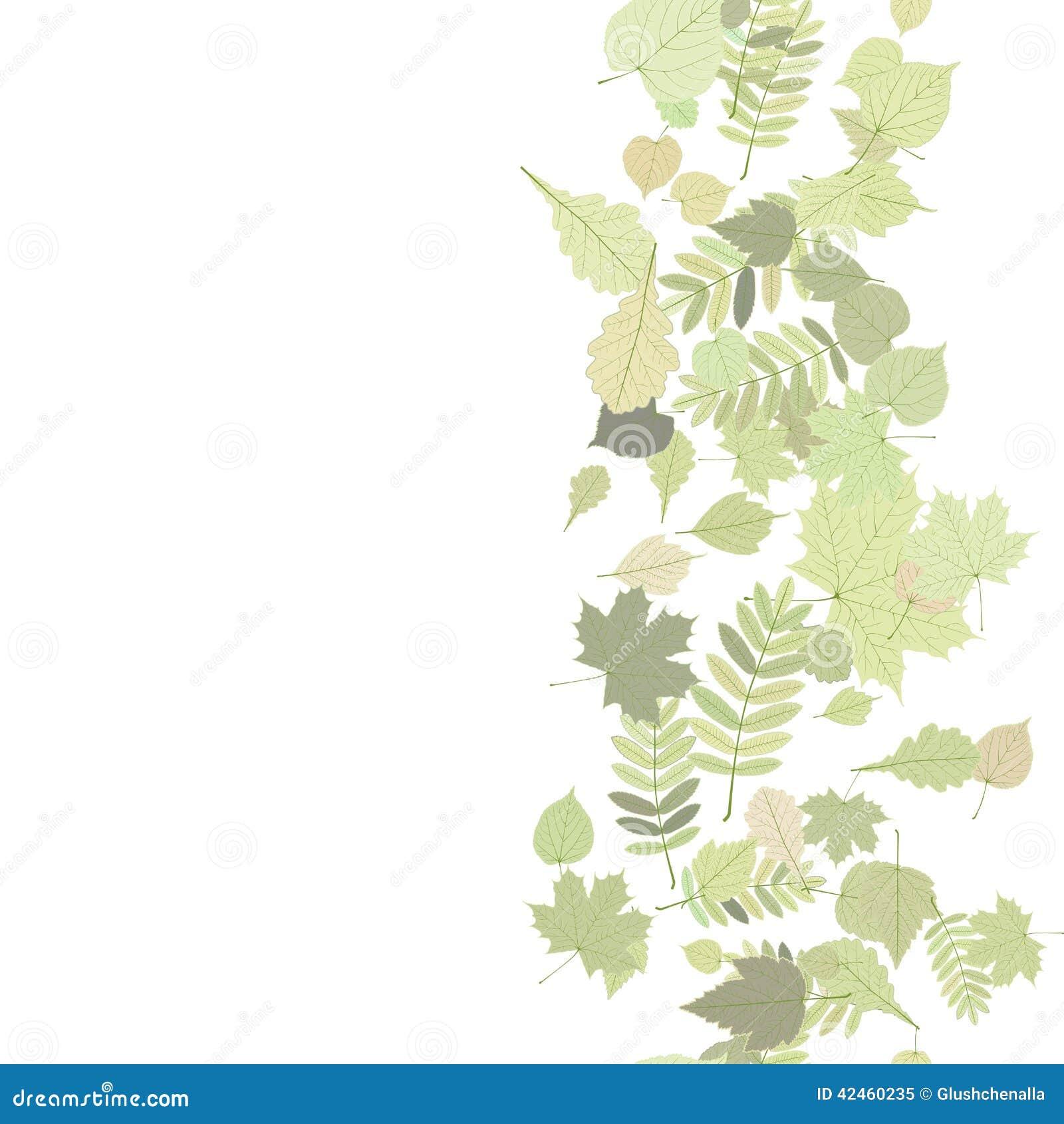 Herbsthintergrund mit bunten Blättern