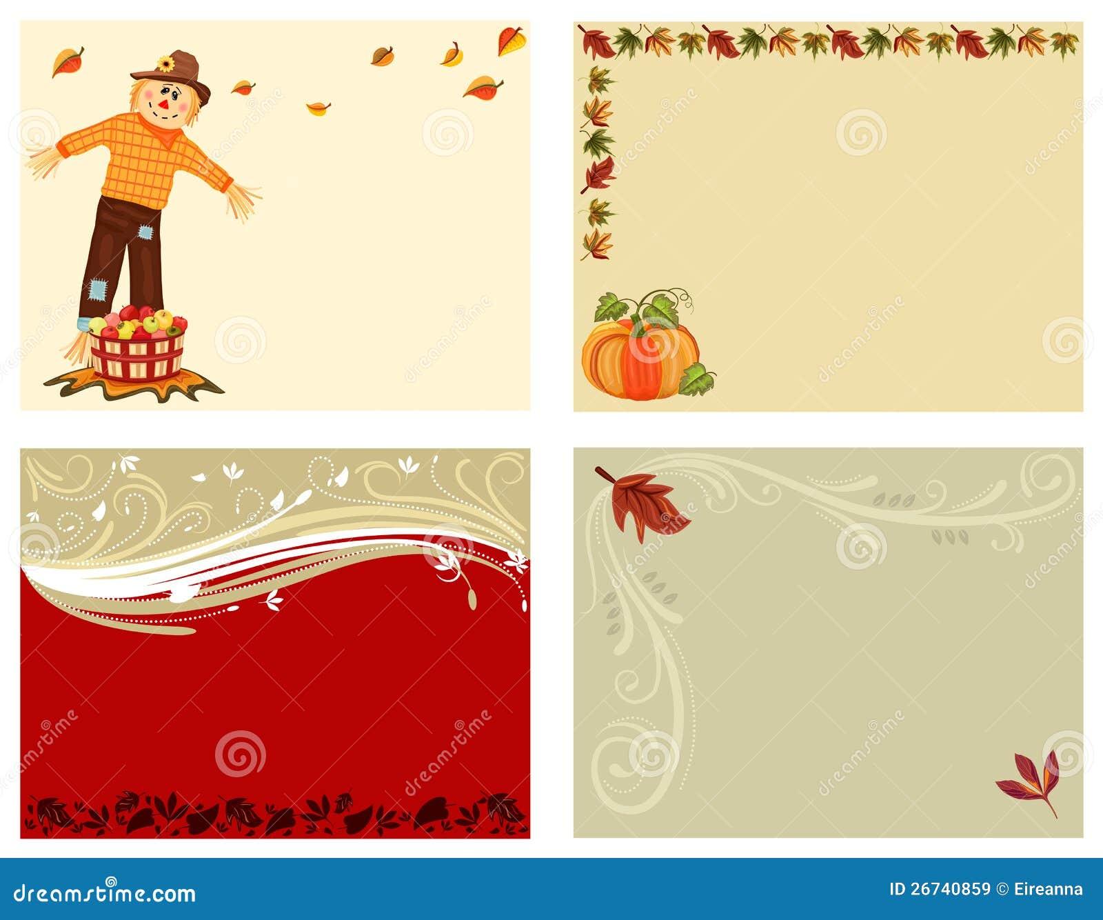 Herbstset von 4 Karten