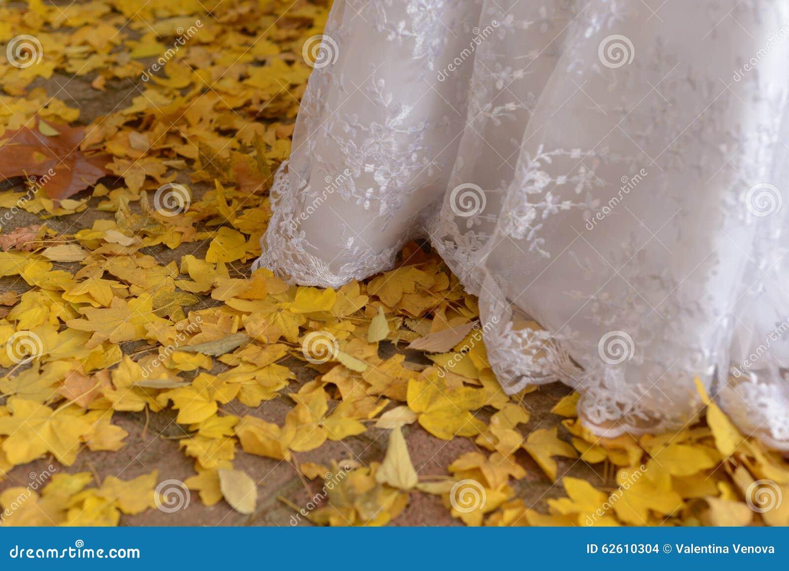 Herbsttage Hochzeit in der auf Lager