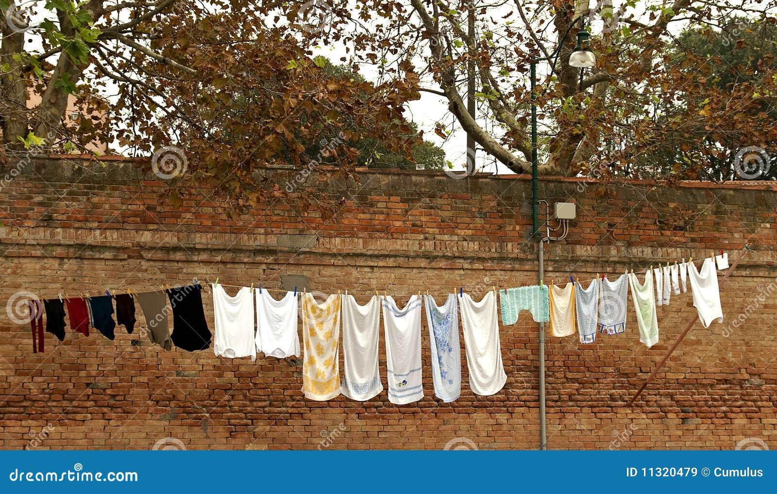 Herbstwäscherei.