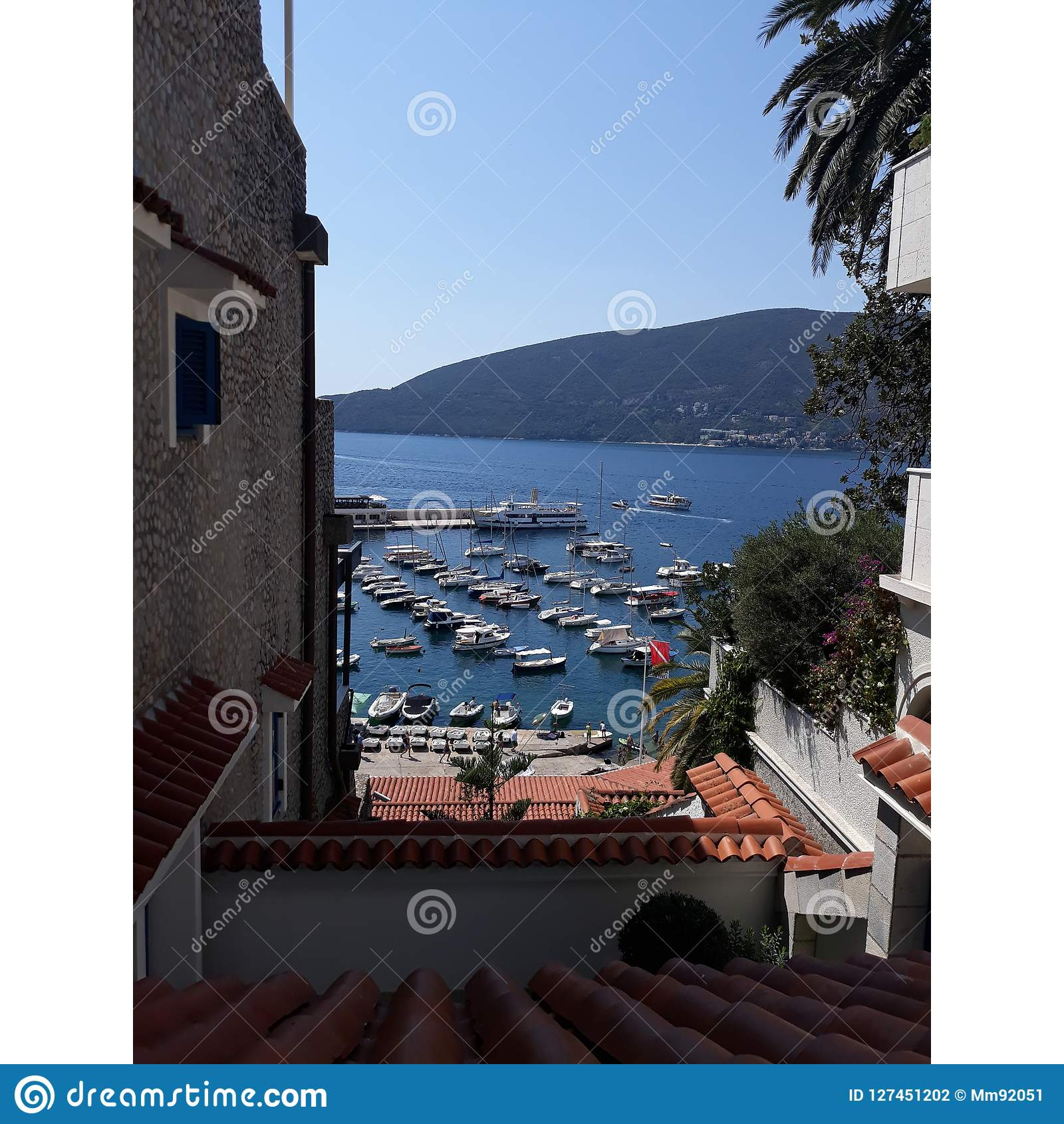 photo taken from the heights of the citadel of Herceg novi