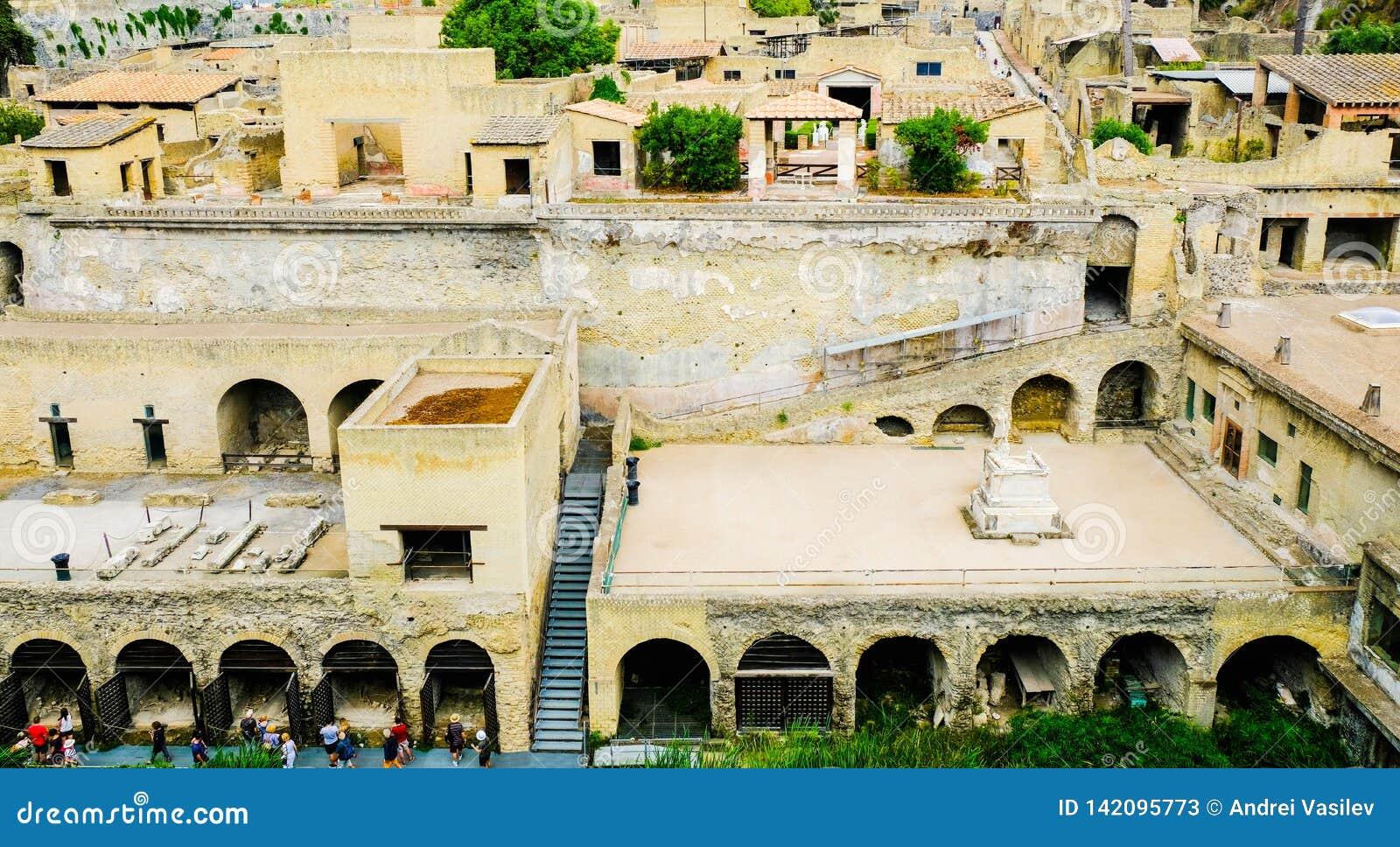 Herculaneum, ?????? ??????? ???? Πανοραμική άποψη σχετικά με τη archeological περιοχή, Ercolano,