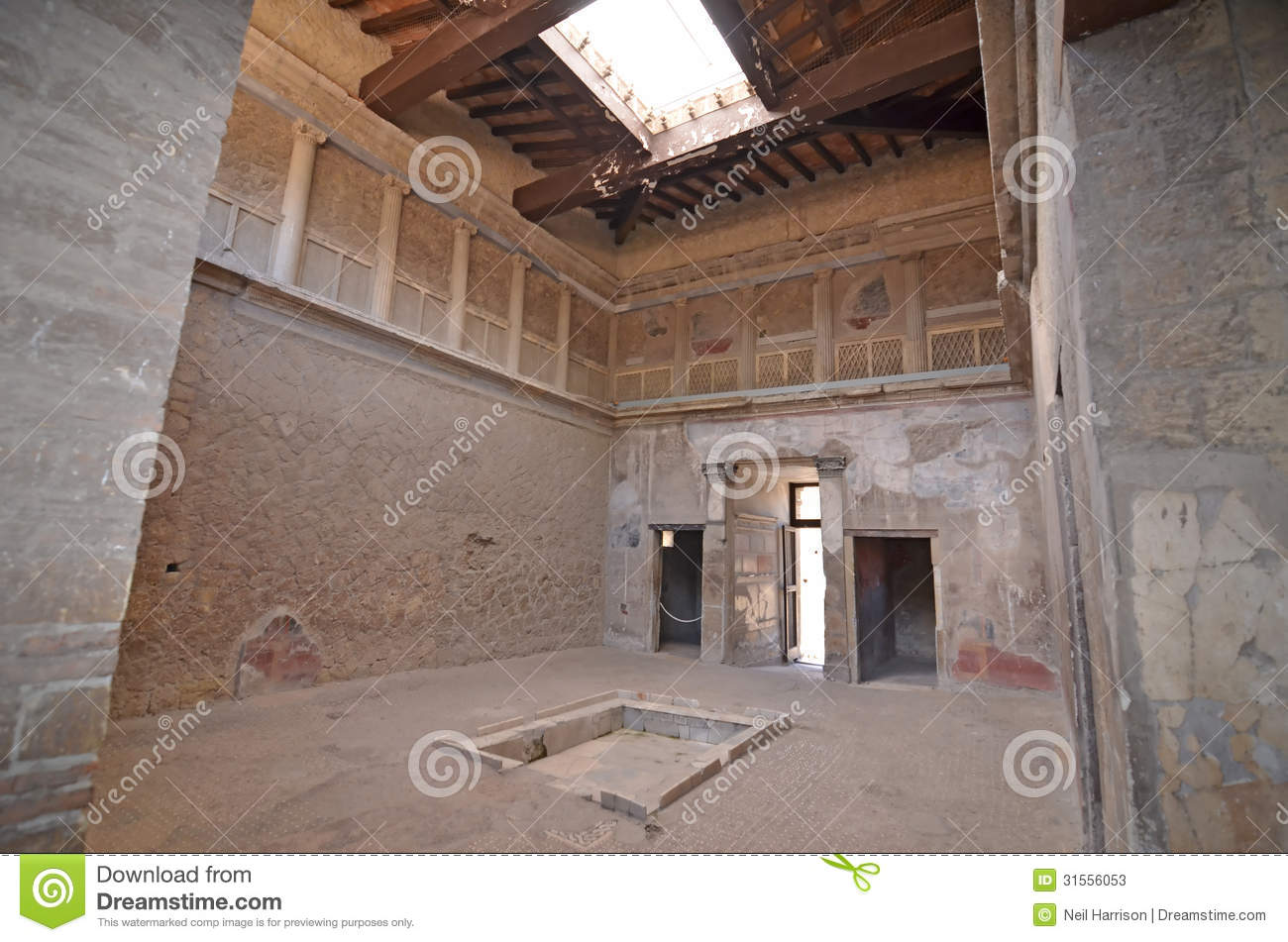Herculaneum stock photos image 31556053 What is an atrium in a house