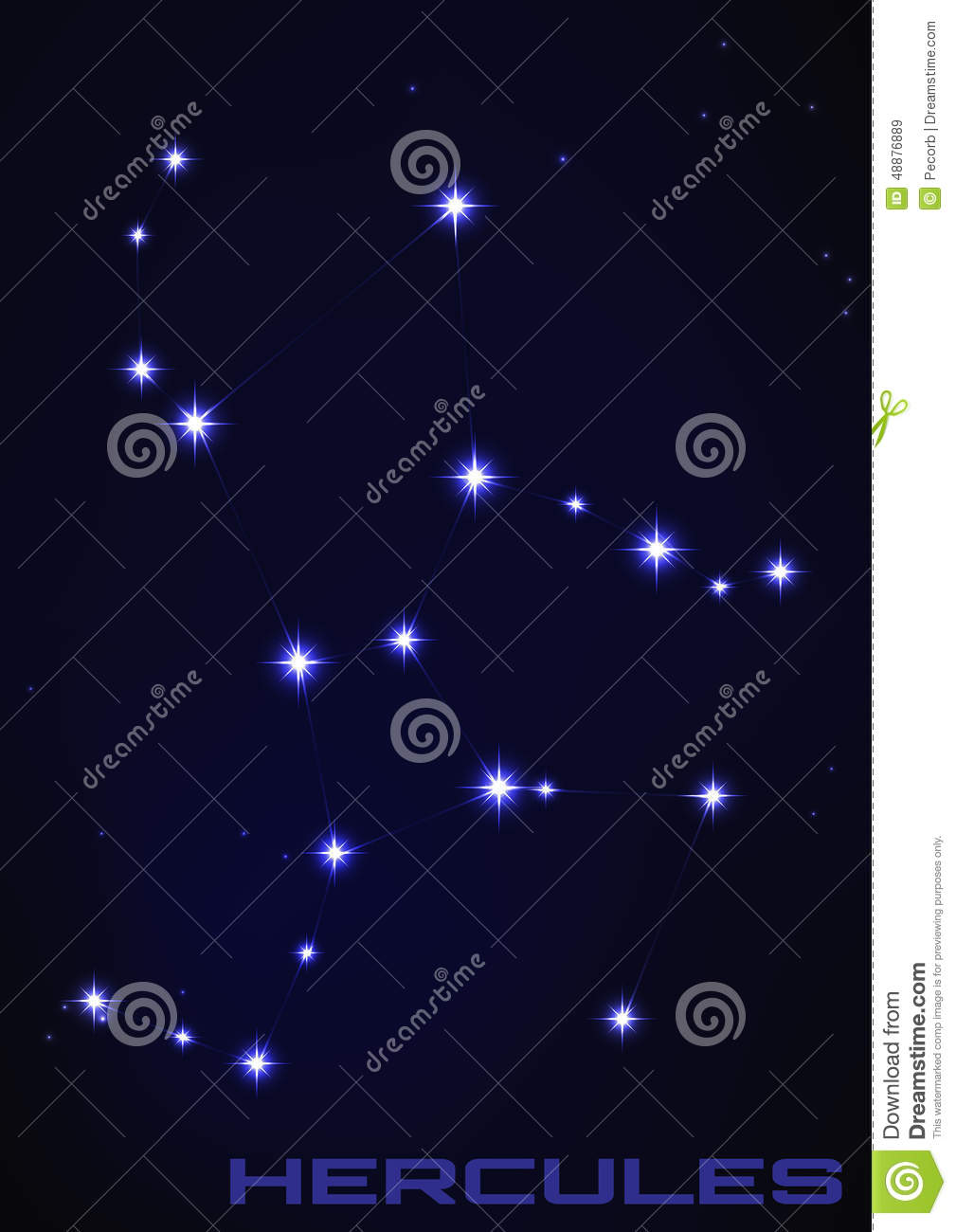 hercules constellation stock vector image 48876889