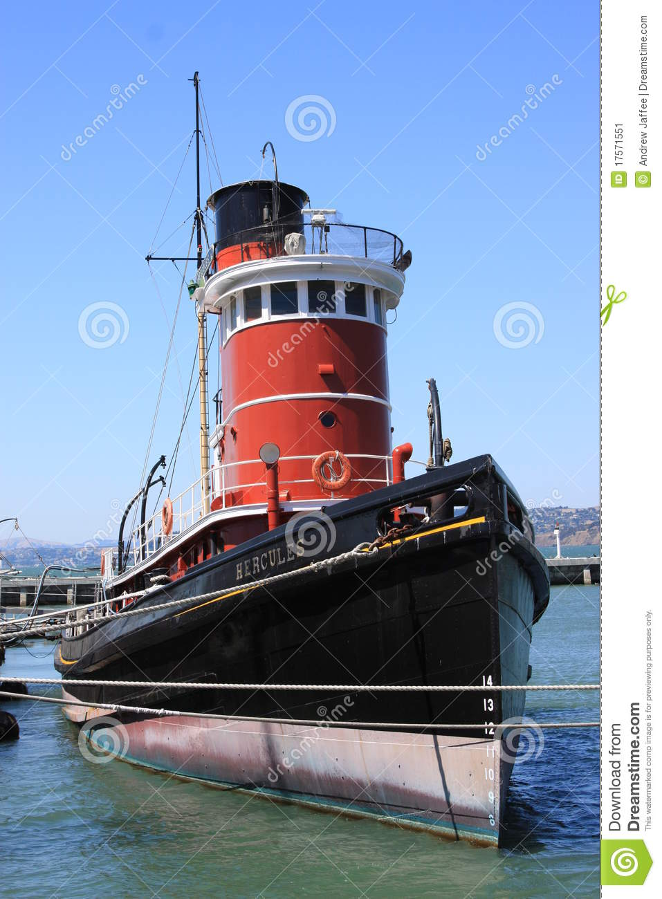 Hercules Tugboat Hyde Street Pier San Francisco Editorial ...