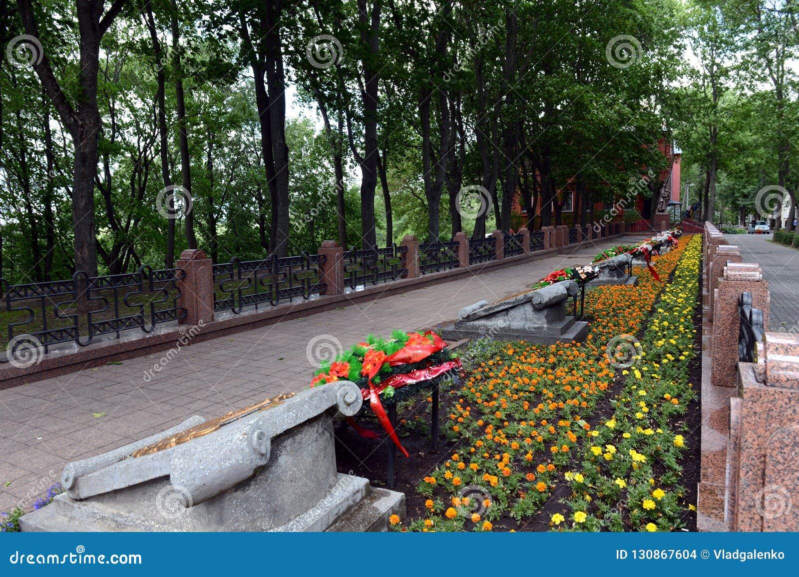 Herdenkingssteeg - de begrafenis van militairen die tijdens de bevrijding van Vitebsk stierven