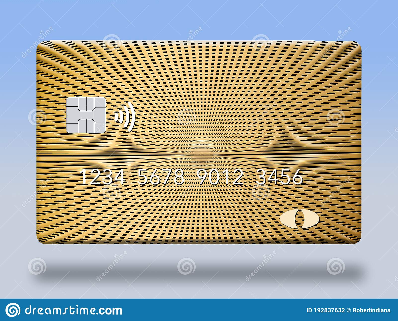 here is a blank credit or debit card with room for your