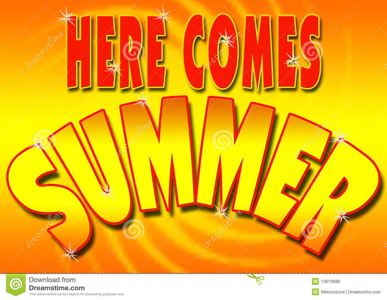 1207d094a544e Here comes summer stock illustration. Illustration of colourful ...