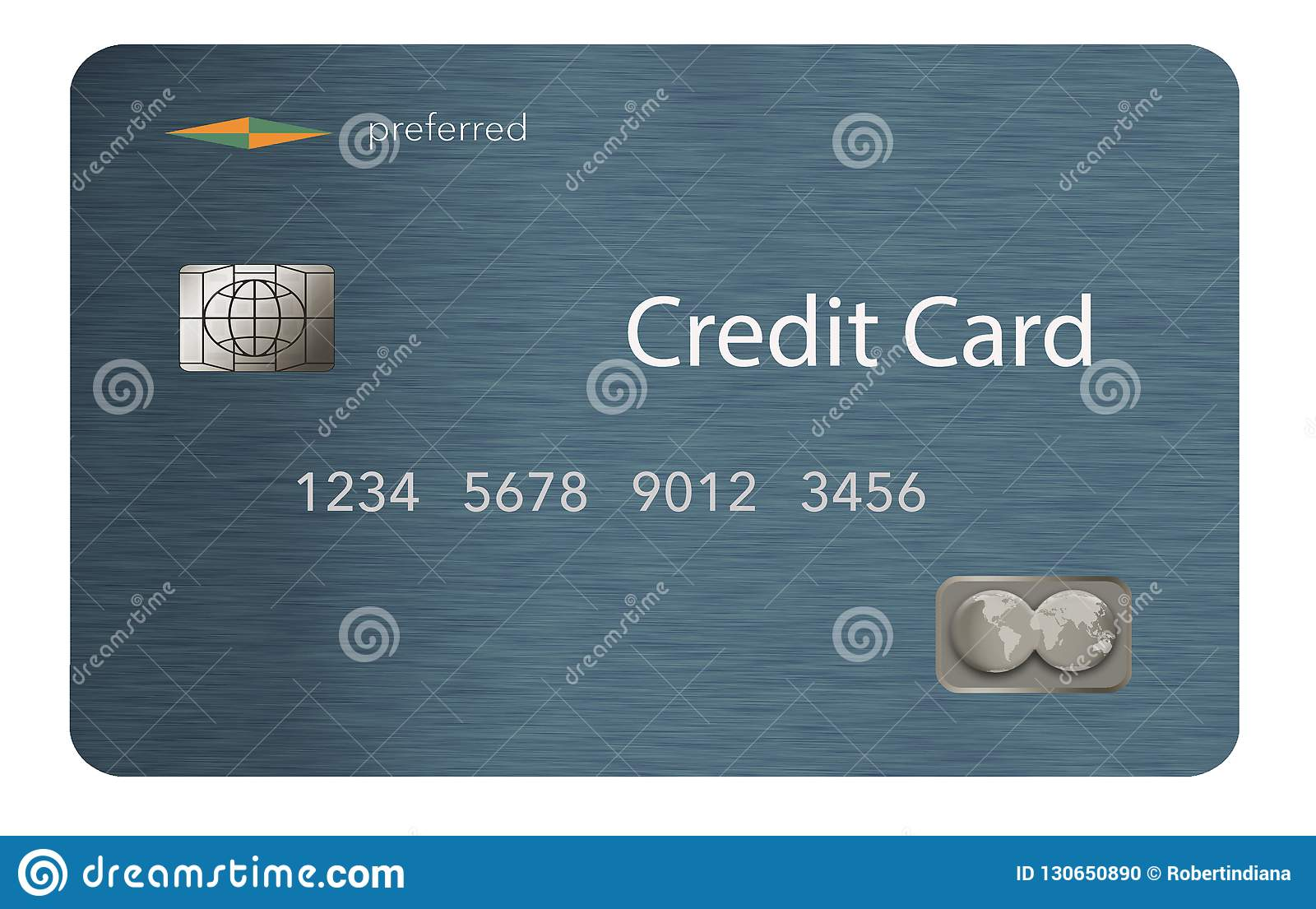 here is a credit card with a contemporary design that is