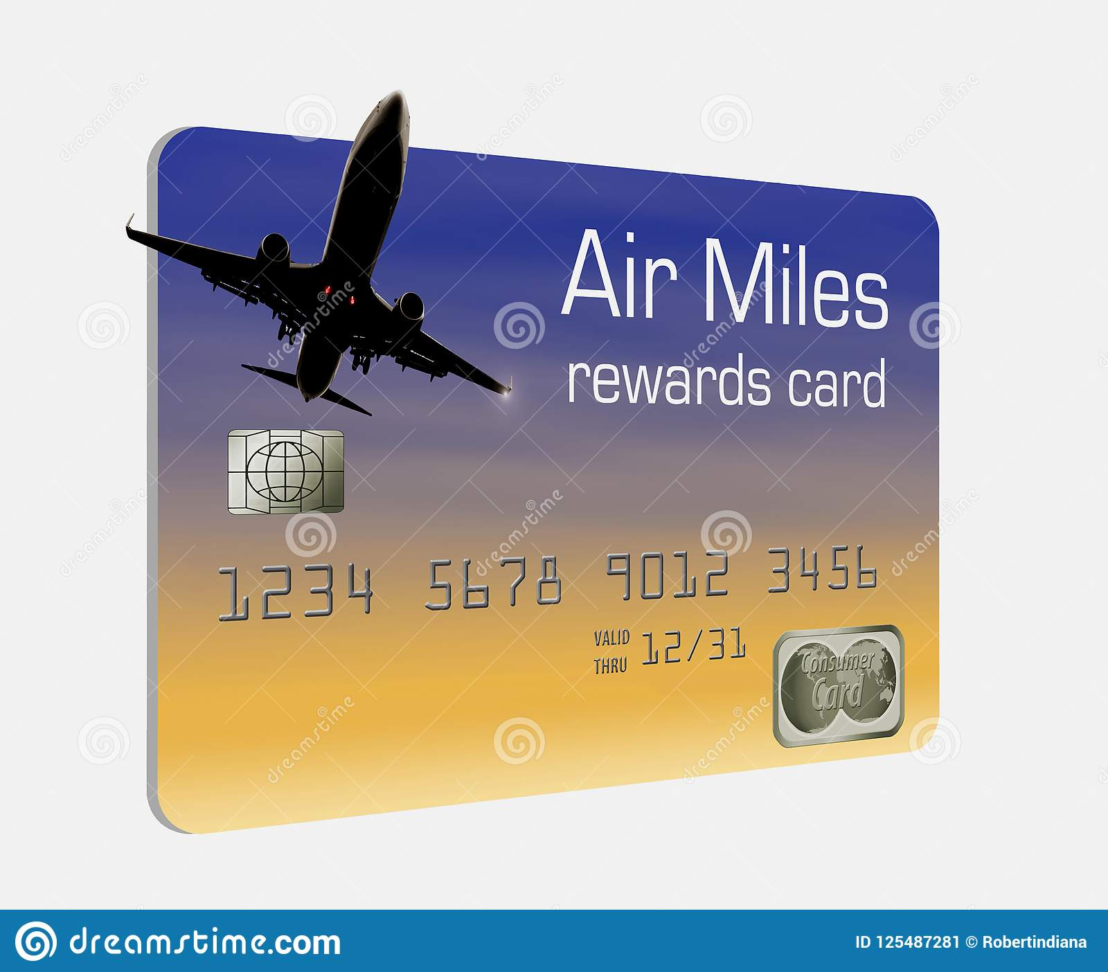 Here is a generic air miles rewards credit card.