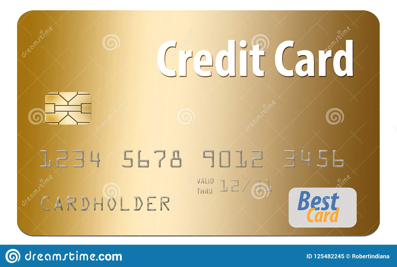 Here is a generic credit card isolated on al white background.