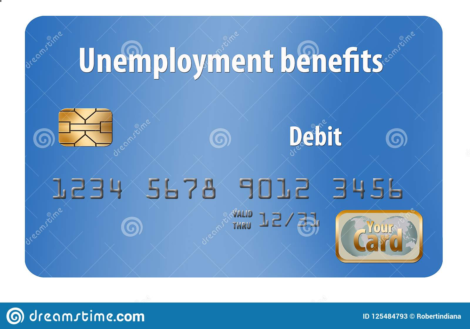 Here is a generic unemployment benefits debit card.